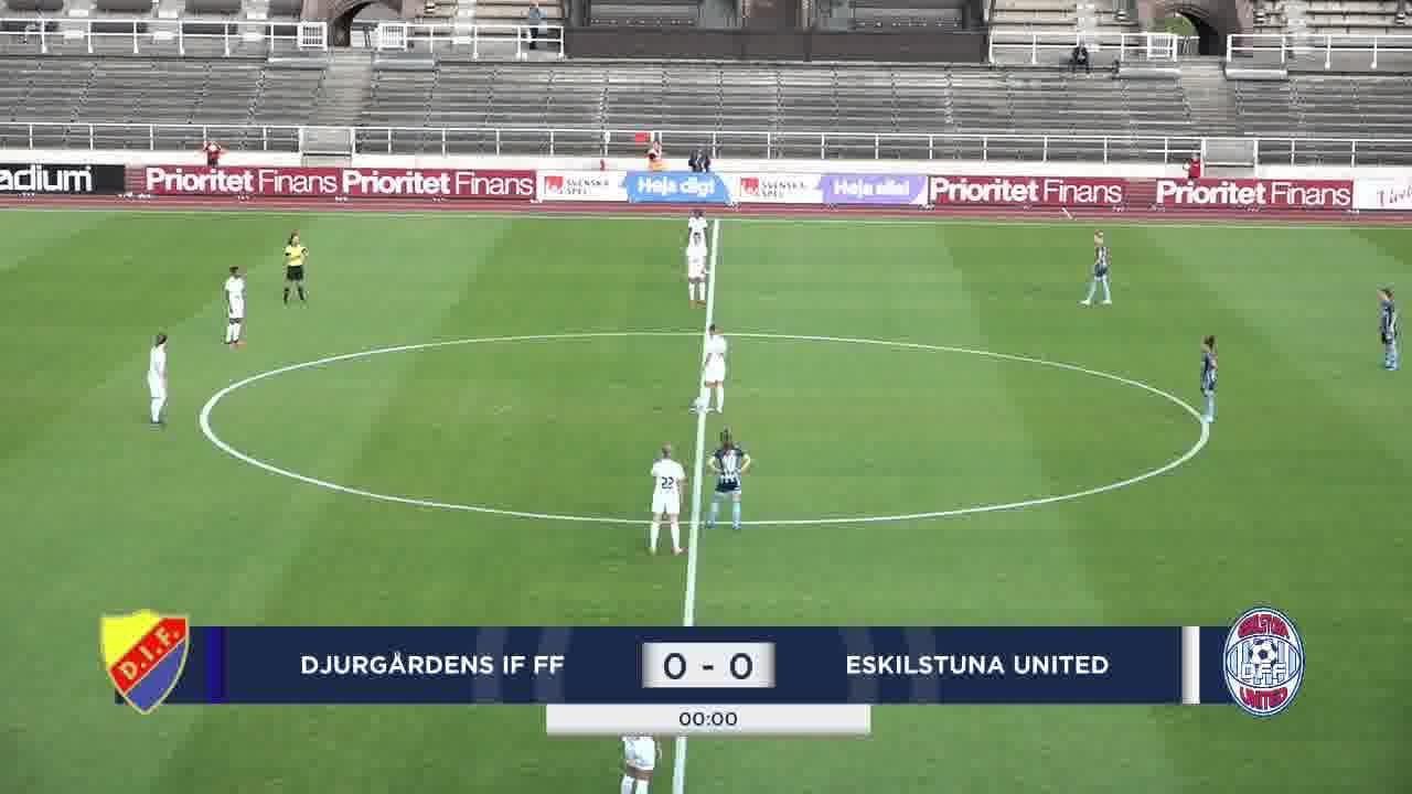 Highlights: Djurgården – Eskilstuna 29 juli