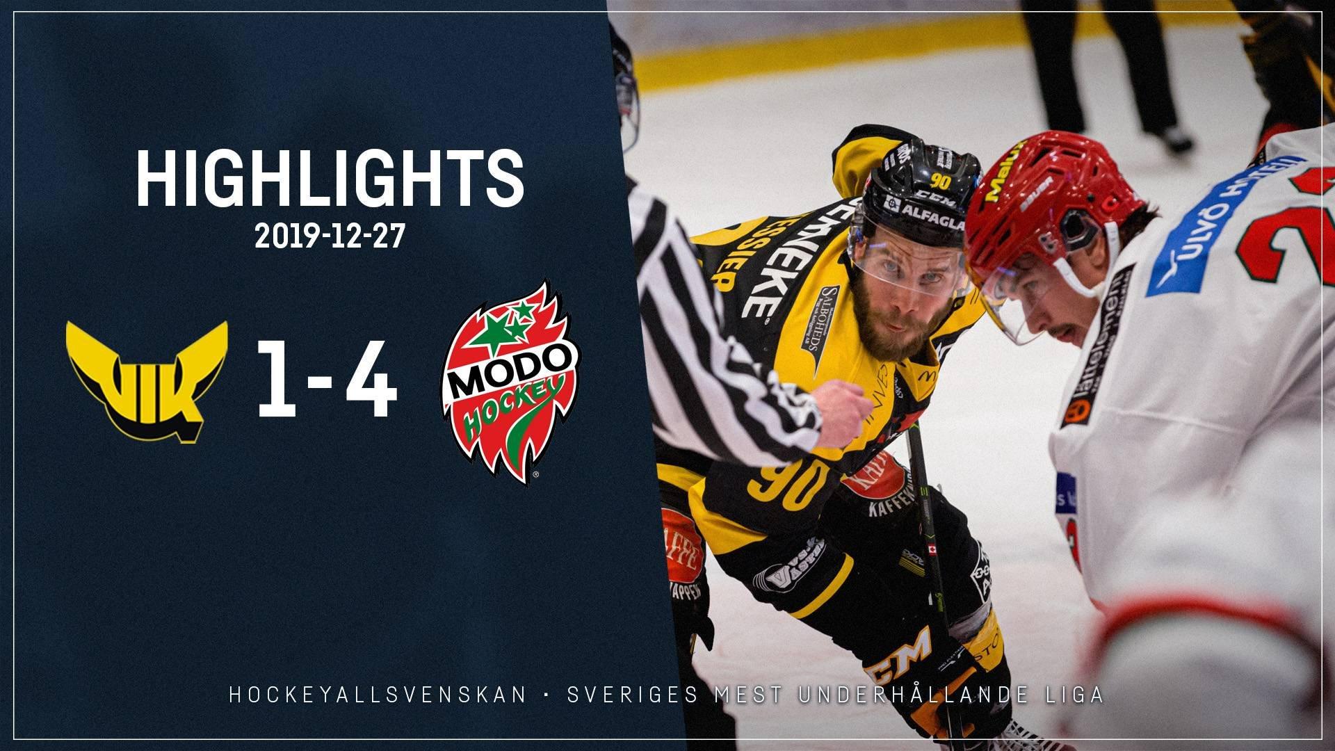 2019-12-27 Västerås - MODO 1-4