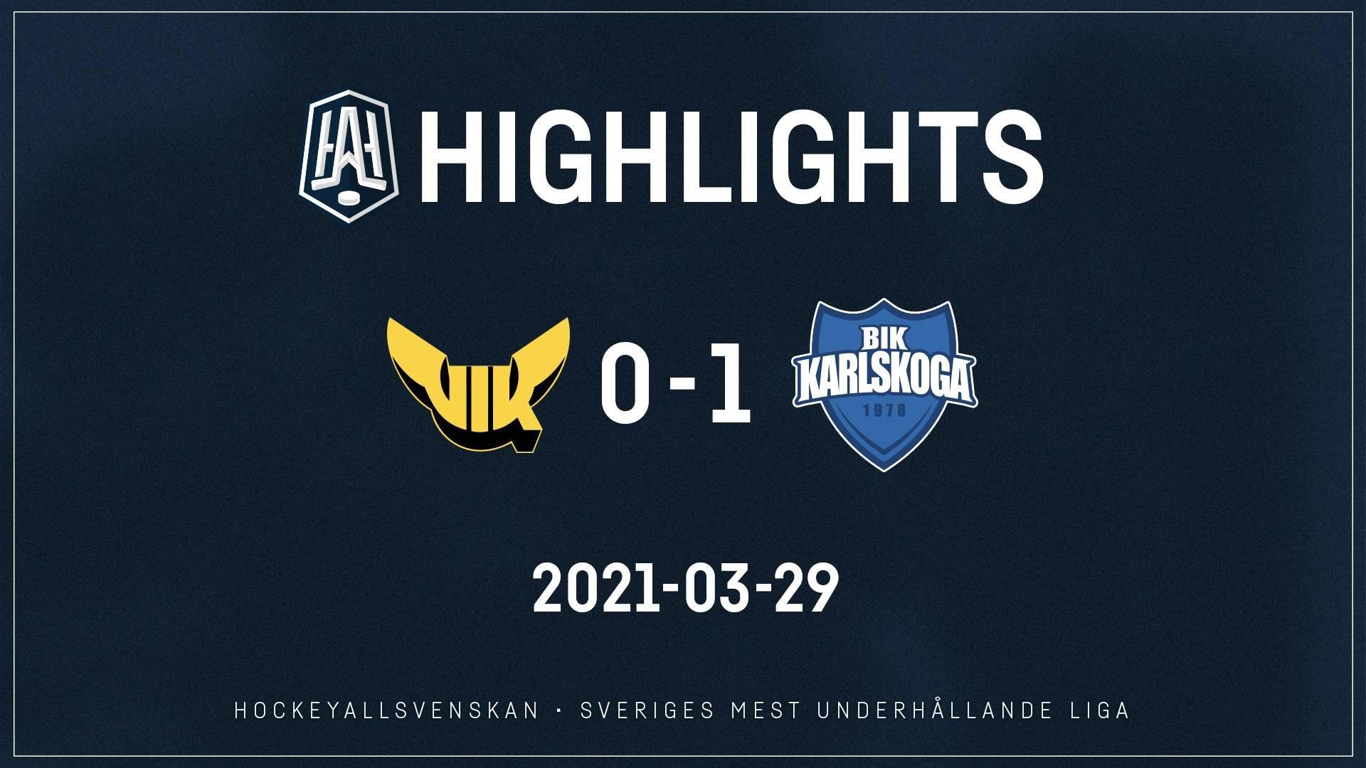 2021-03-29 Västerås - Karlskoga 0-1