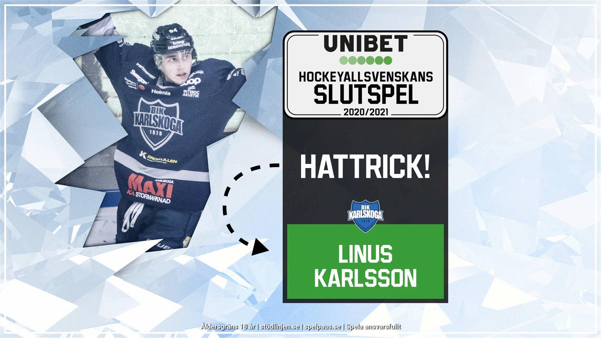 Hattrick: Linus Karlsson, Karlskoga