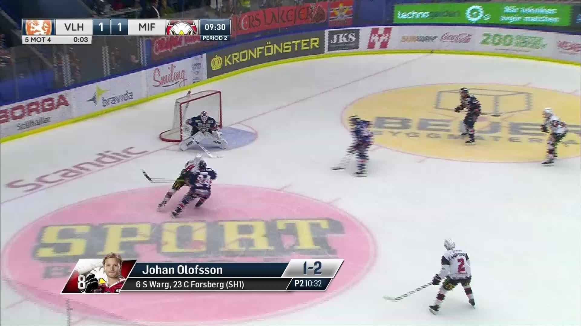 Växjö Lakers - Malmö Redhawks 1-2