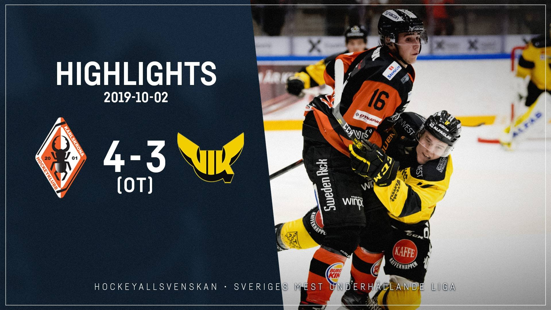 2019-10-02 Karlskrona - Västerås 4-3 (OT)