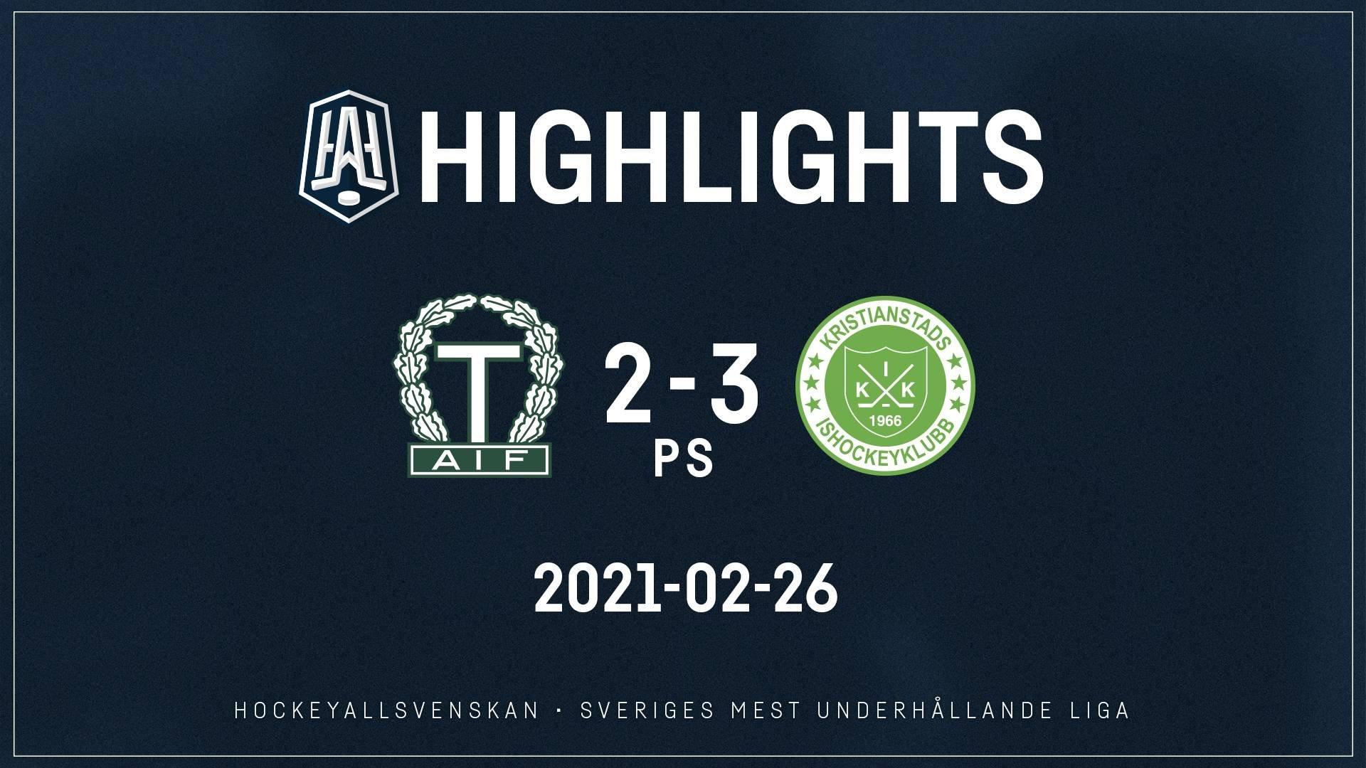 2021-02-26 Tingsryd - Kristianstad 2-3 (PS)