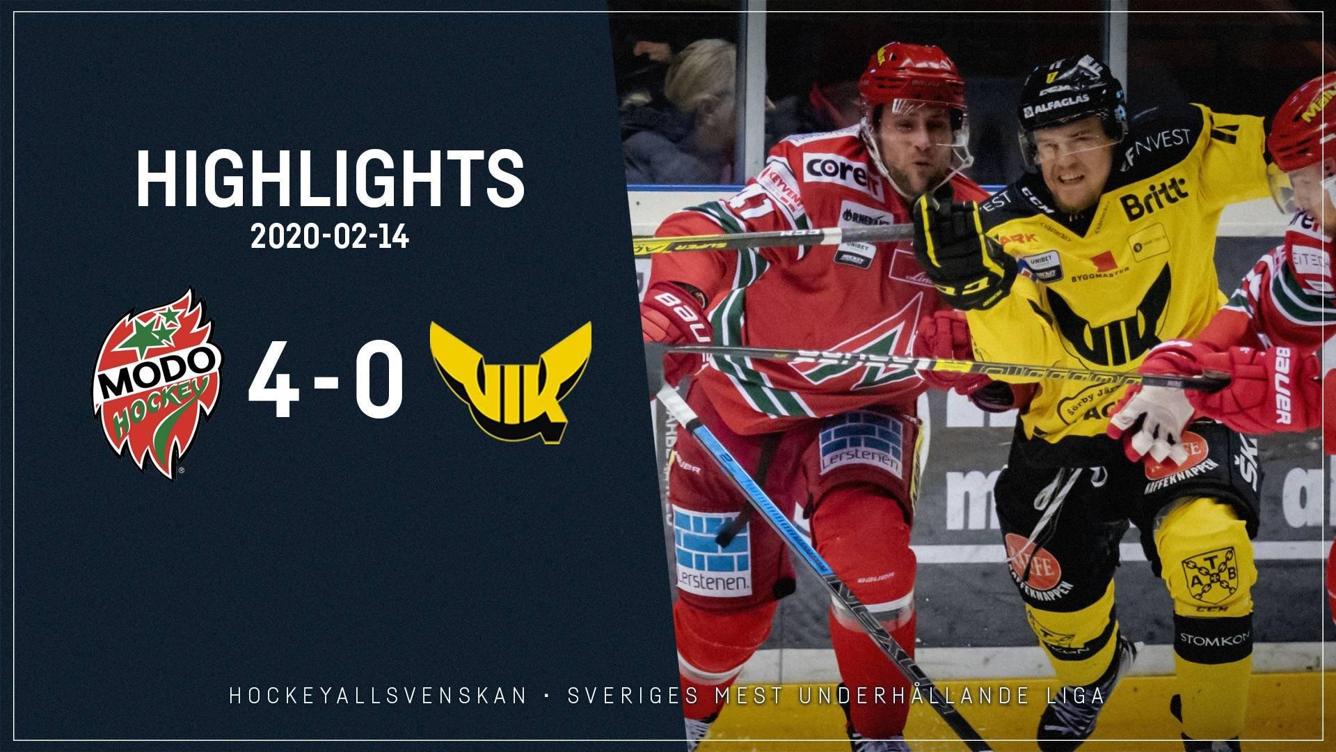 2020-02-14 MODO - Västerås 4-0