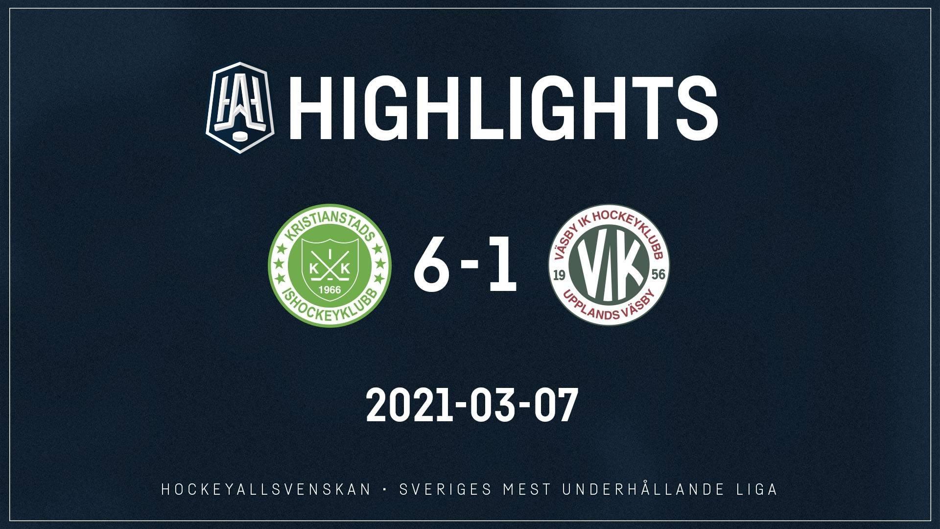 2021-03-07 Kristianstad - Väsby 6-1