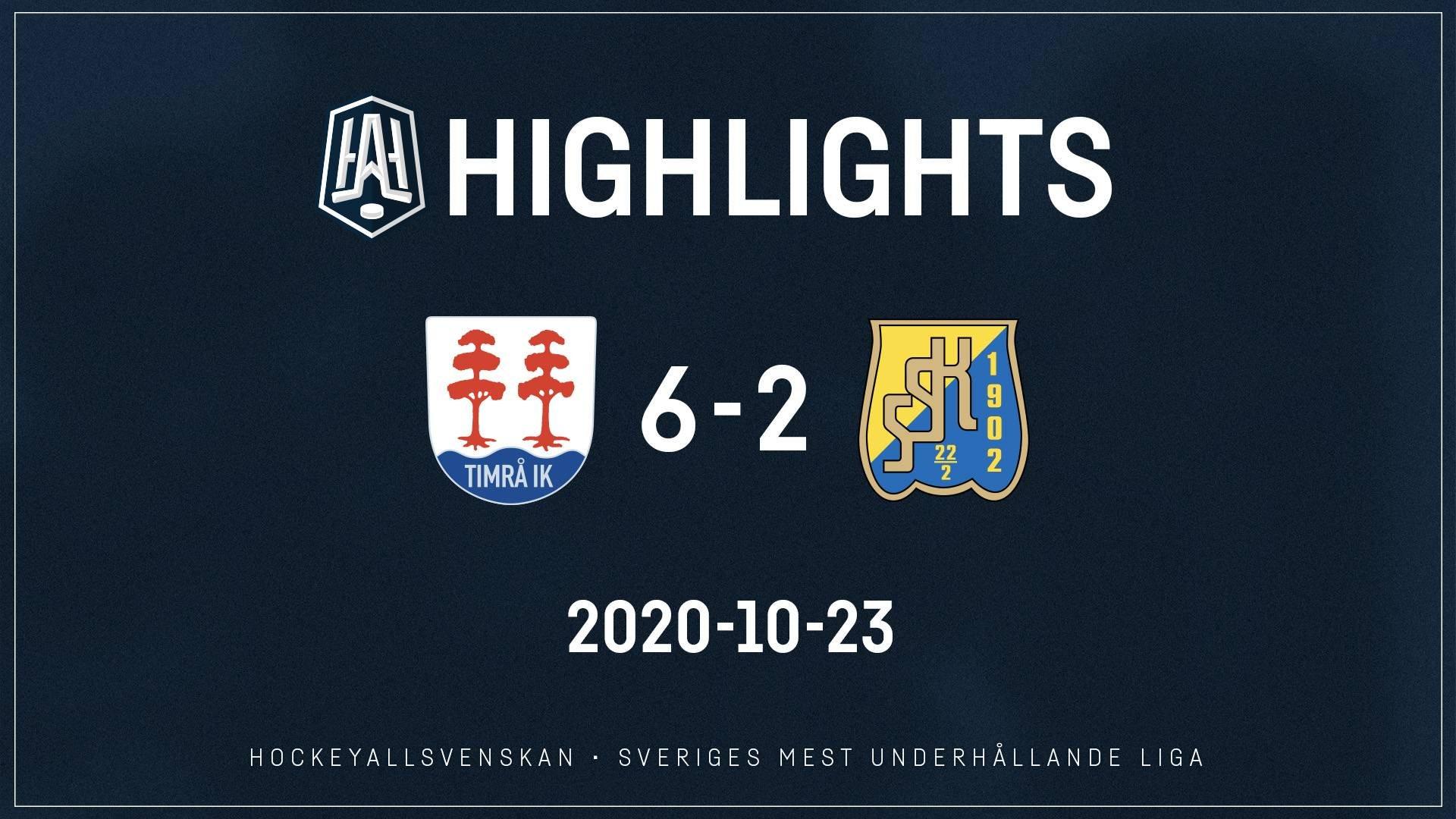 2020-10-23 Timrå - Södertälje 6-2