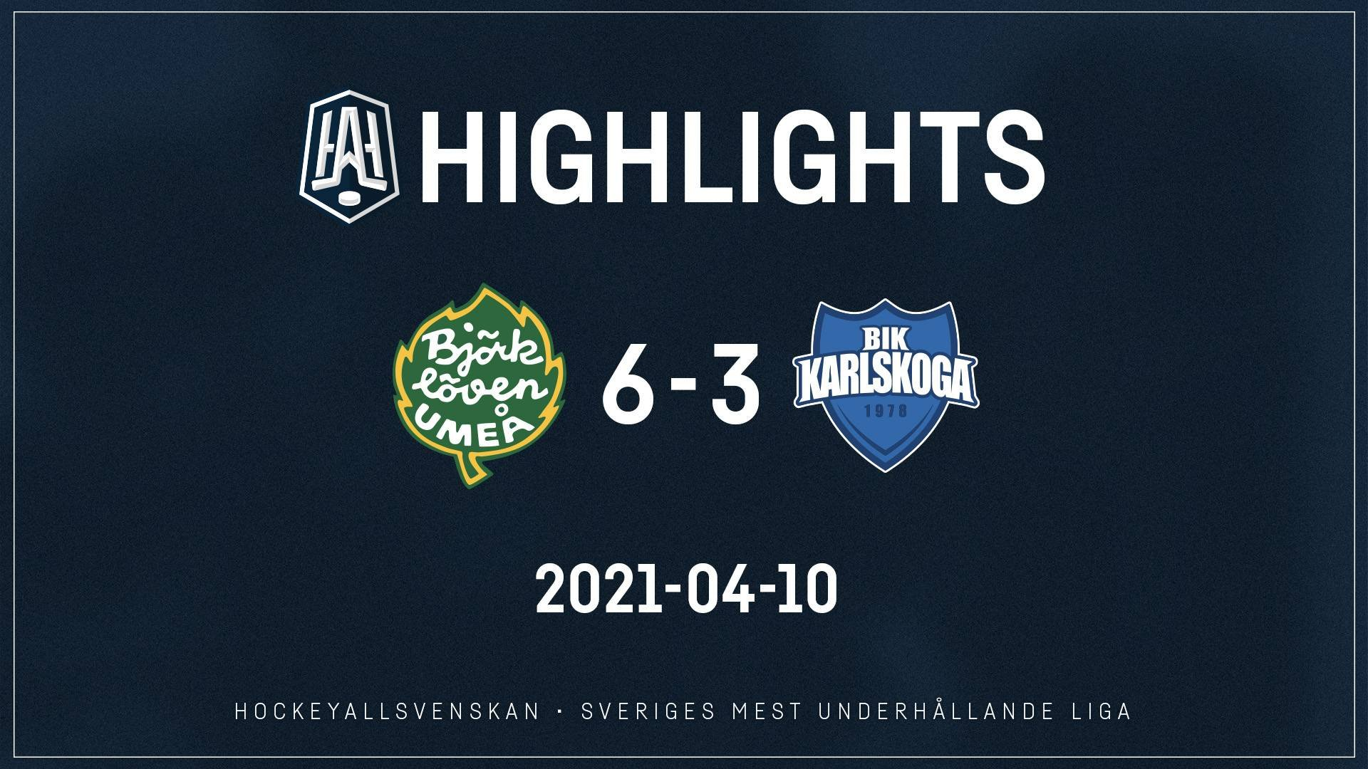 2021-04-10 Björklöven - Karlskoga 6-3