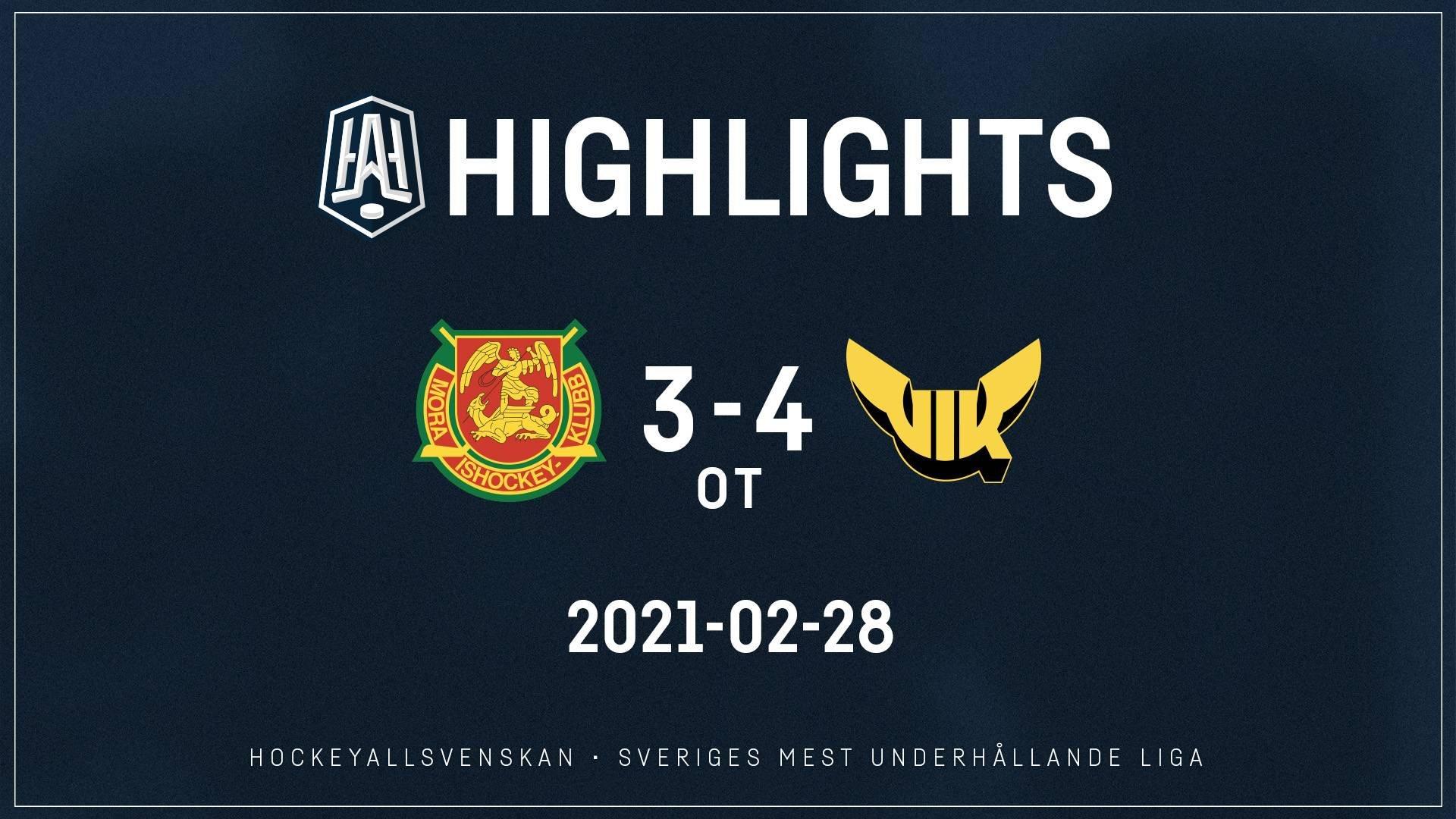 2021-02-28 Mora - Västerås 3-4 (OT)