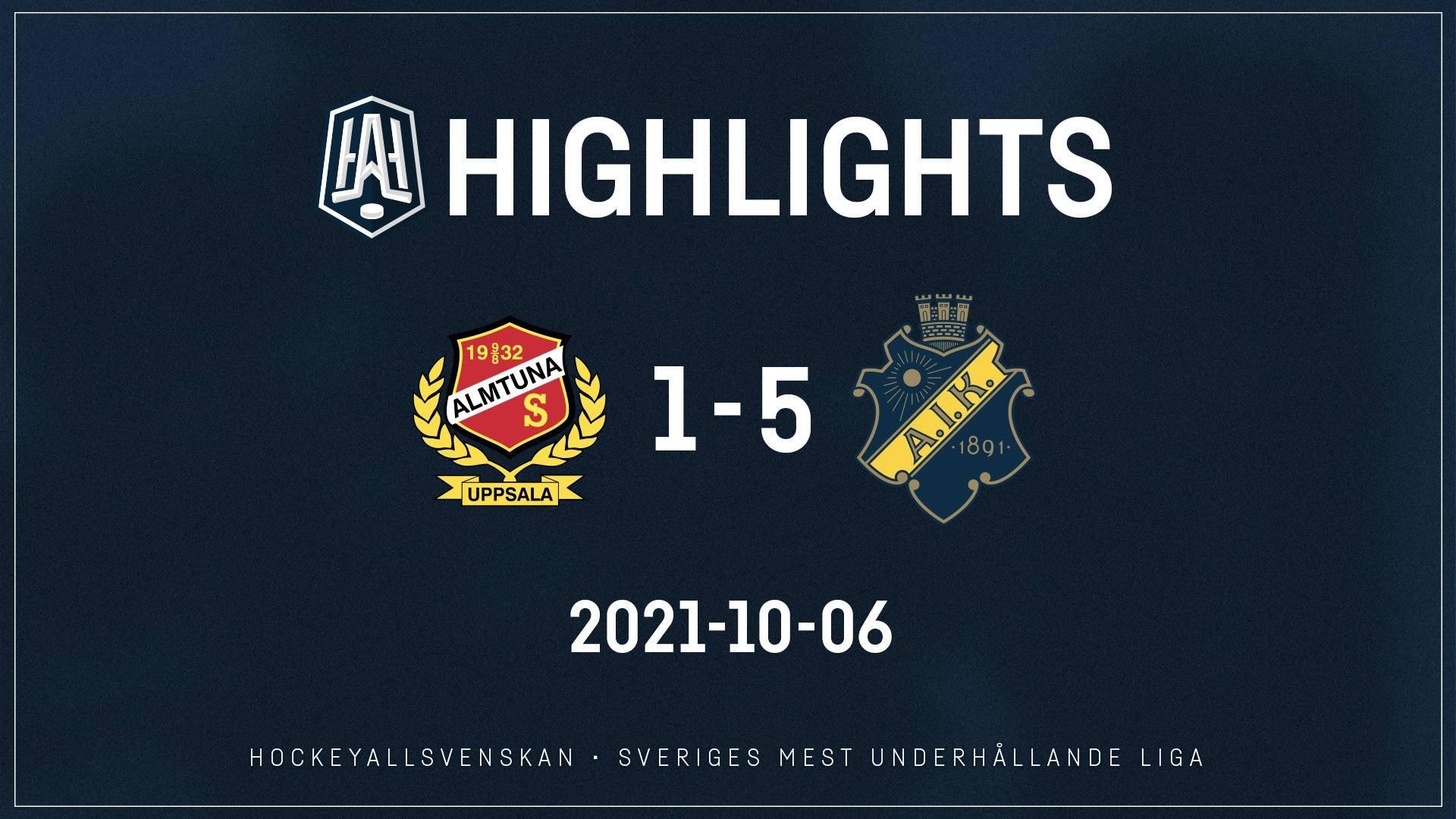 2021-10-06 Almtuna - AIK 1-5