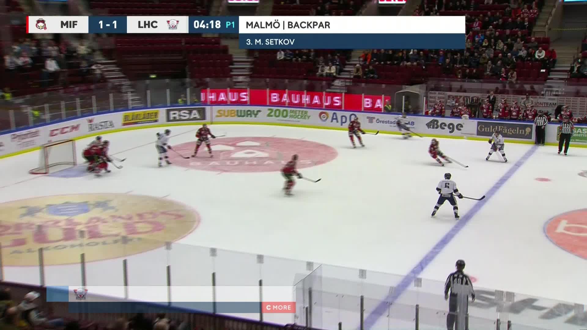 Malmö Redhawks - Linköping HC 1-2