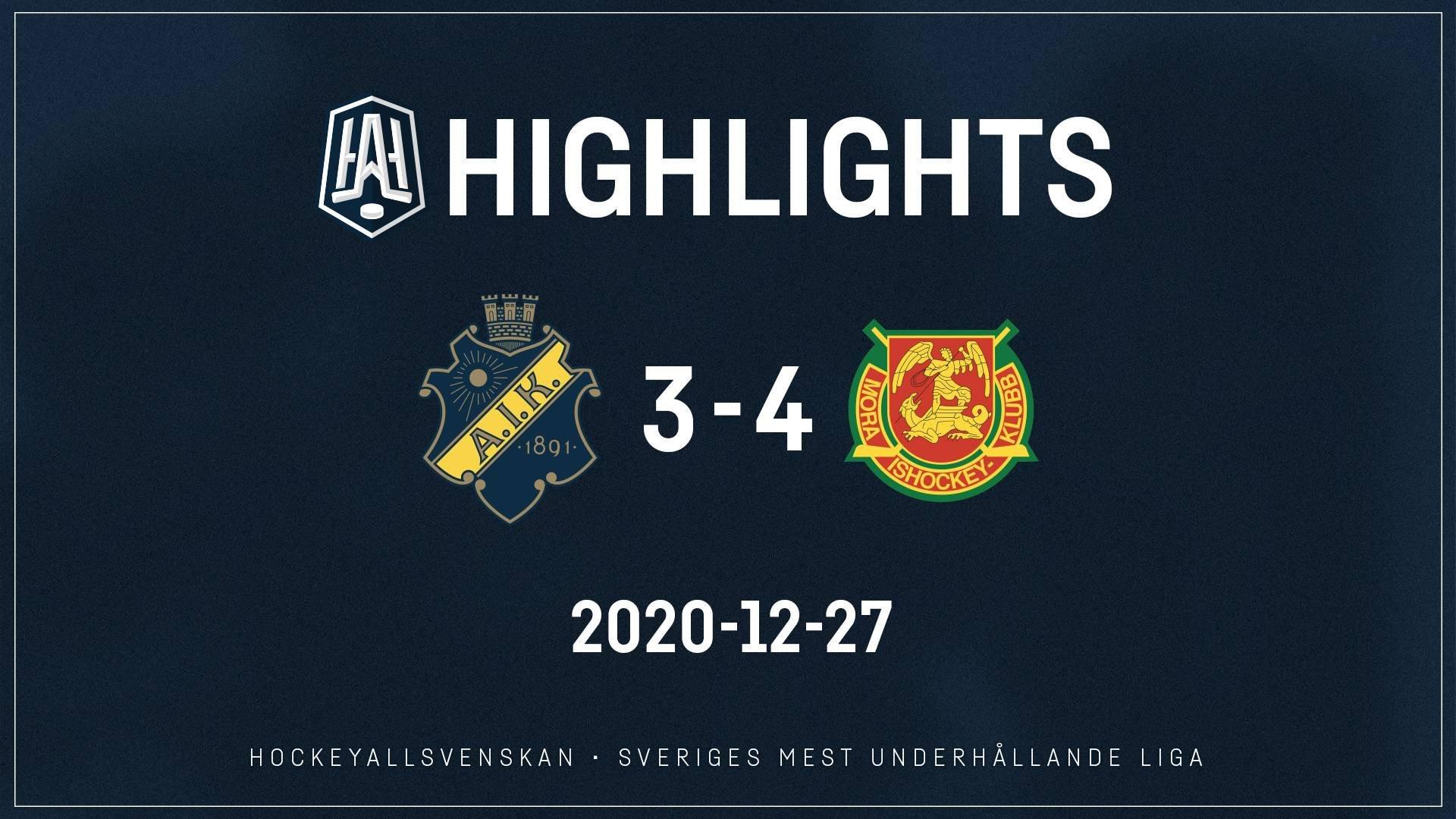 2020-12-27 AIK - Mora 3-4