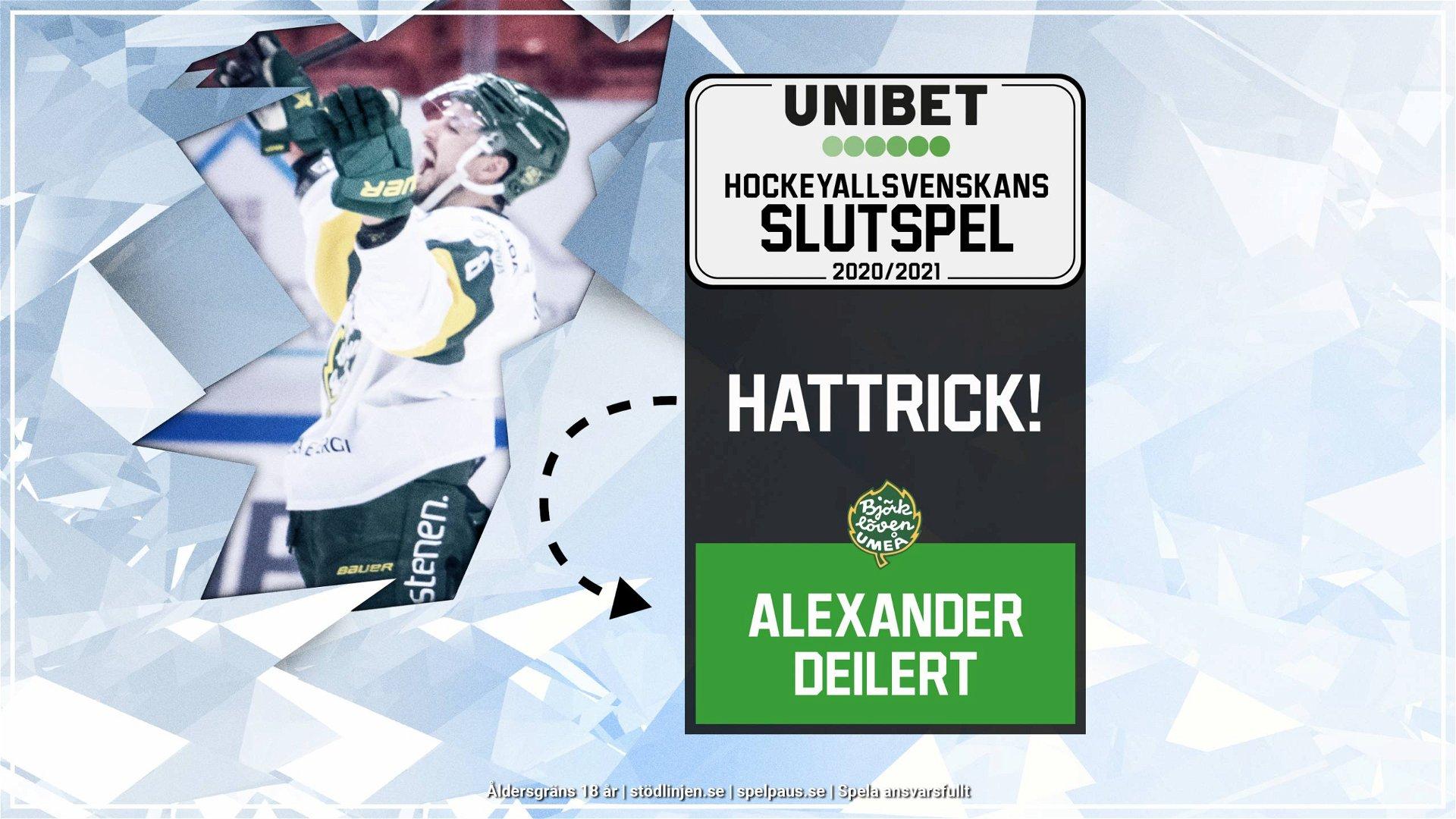 Hattrick: Alexander Deilert, Björklöven
