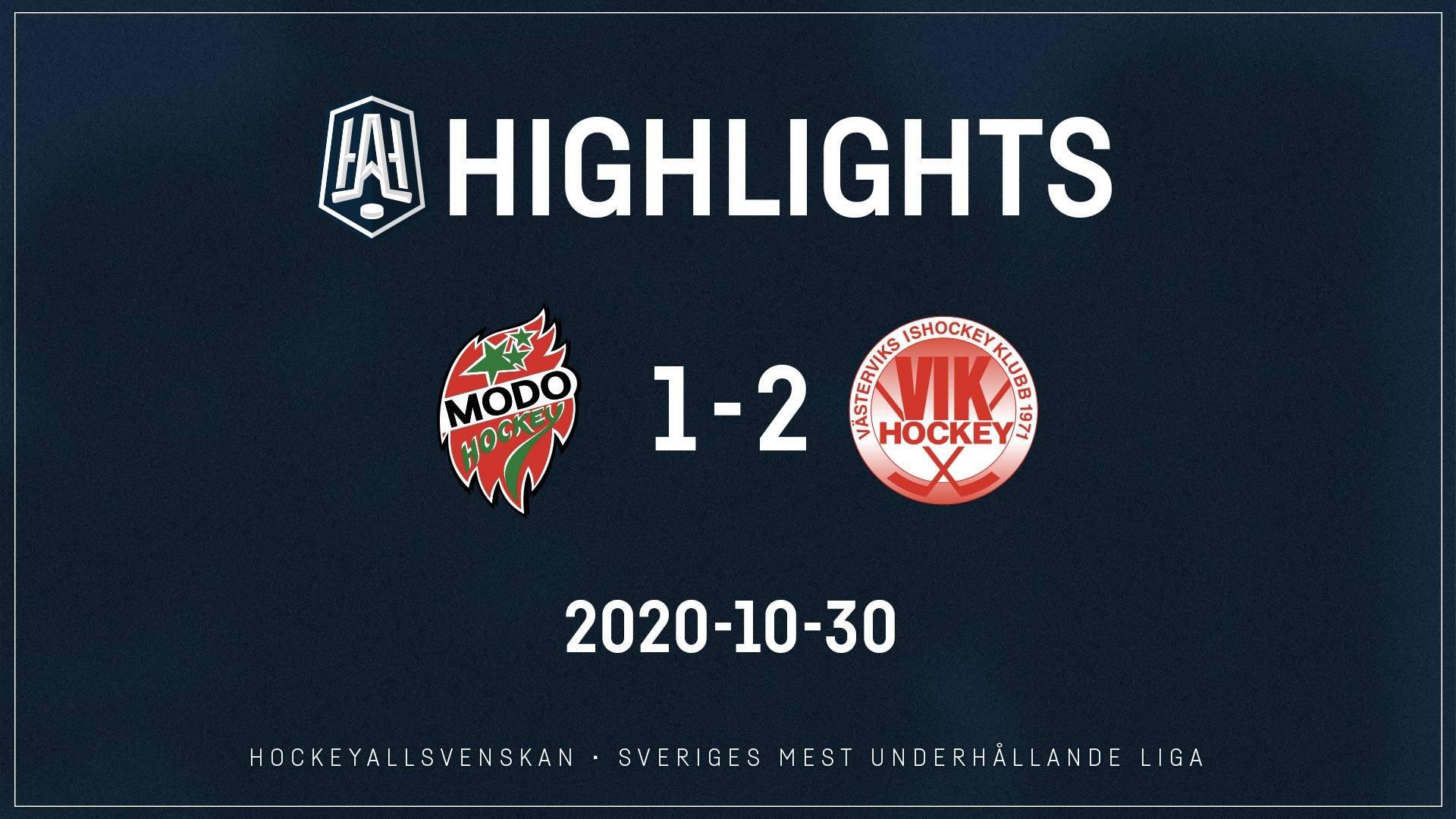 2020-10-30 MODO - Västervik 1-2