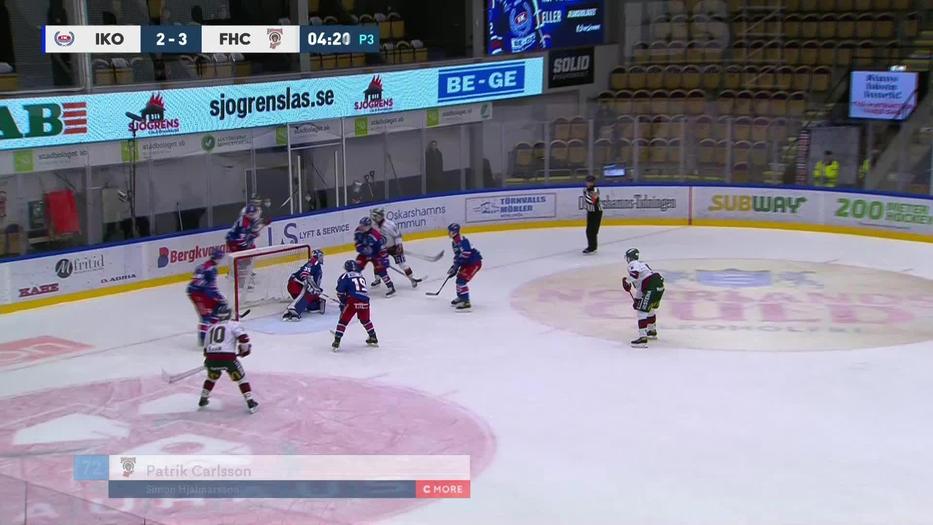 IK Oskarshamn - Frölunda HC 2-4