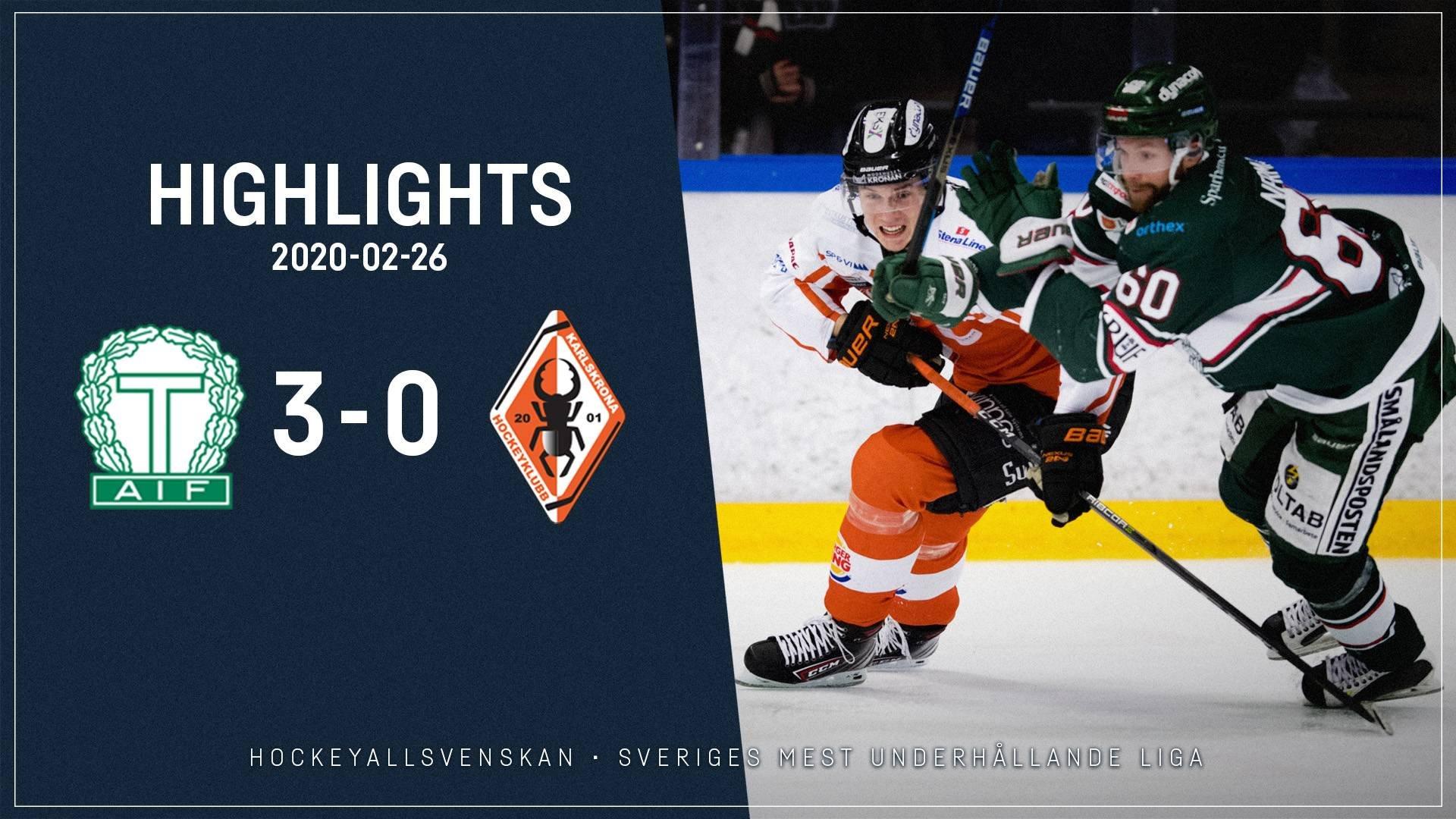 2020-02-26 Tingsryd - Karlskrona 3-0