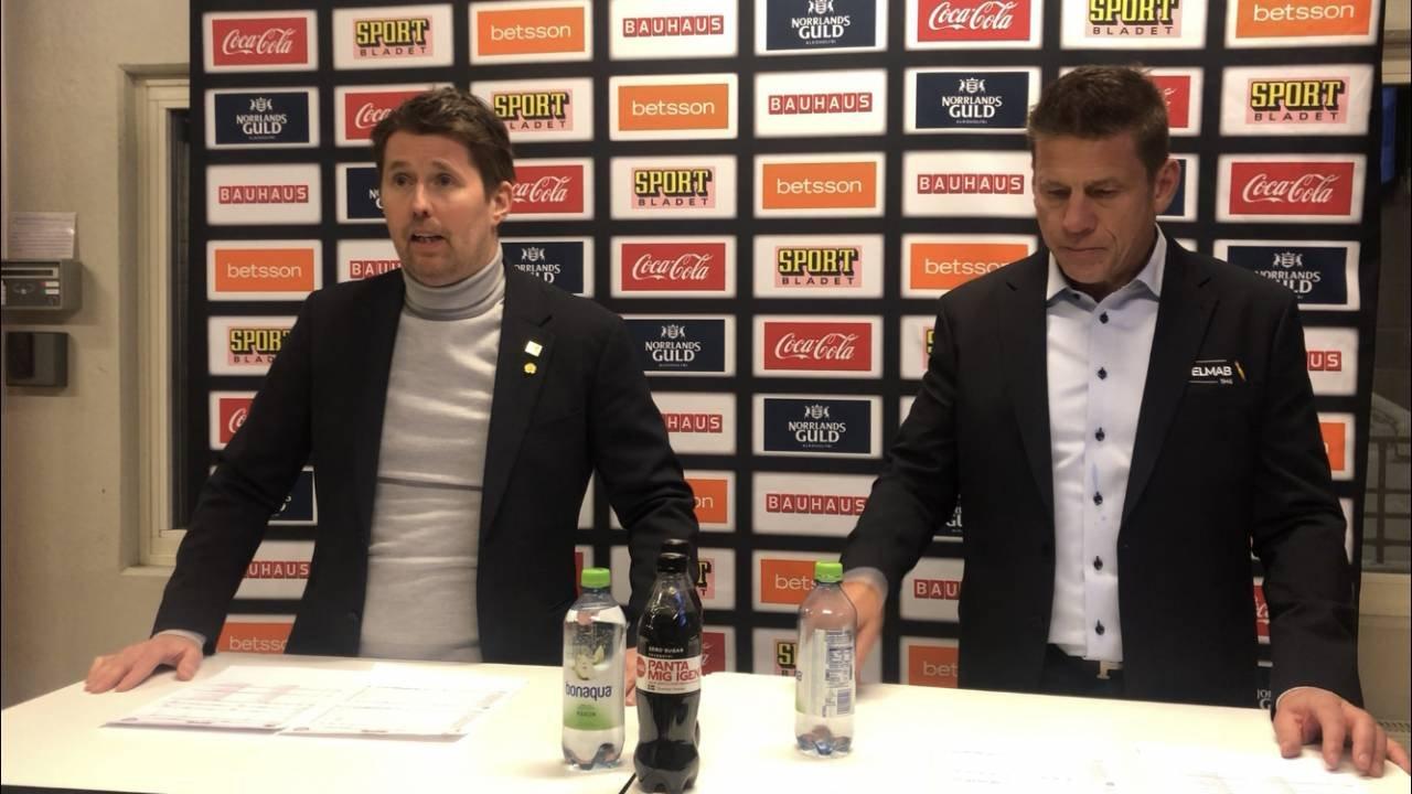 Presskonferens efter SKE - LIF