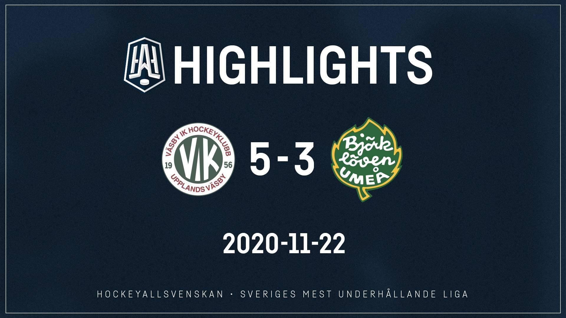 2020-11-22 Väsby - Björklöven 5-3