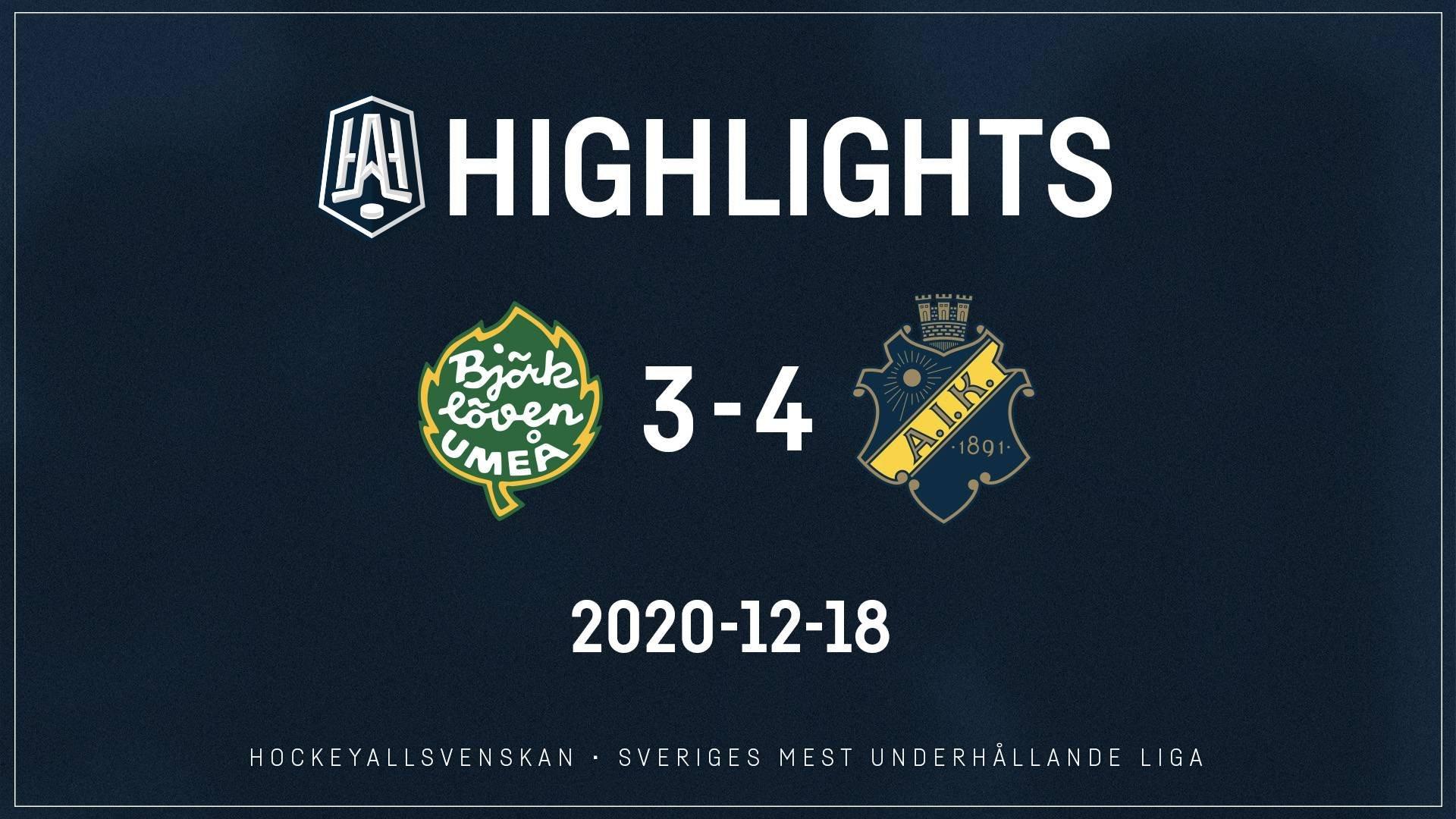 2020-12-18 Björklöven - AIK 3-4