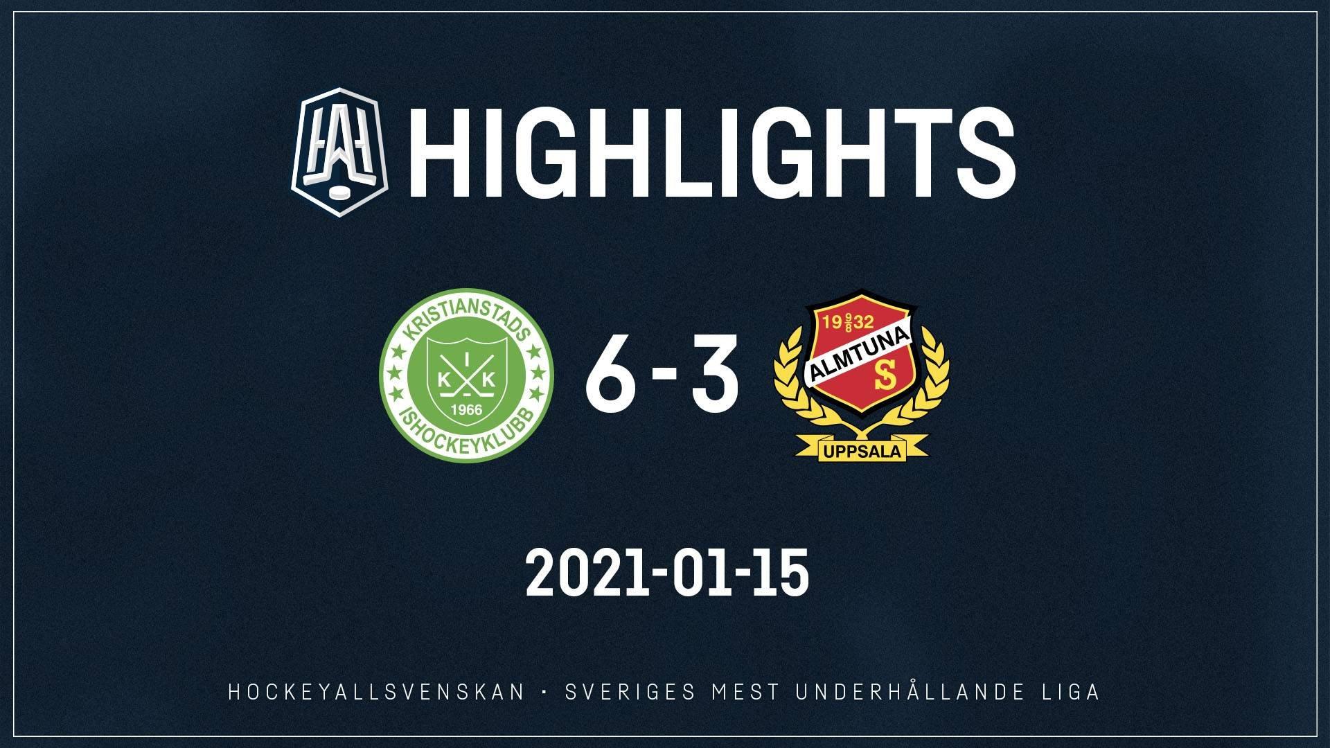 2021-01-15 Kristianstad - Almtuna 6-3