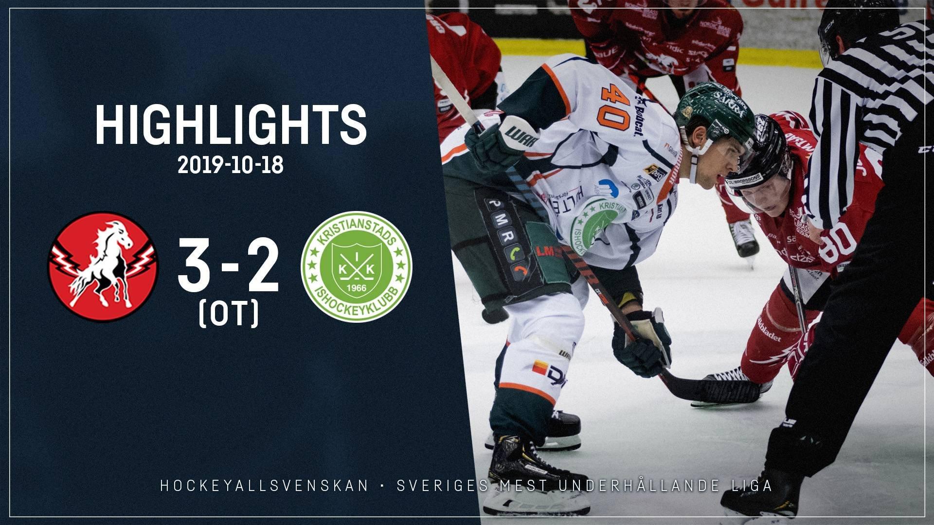 2019-10-18 Vita Hästen - Kristianstad 3-2 (OT)