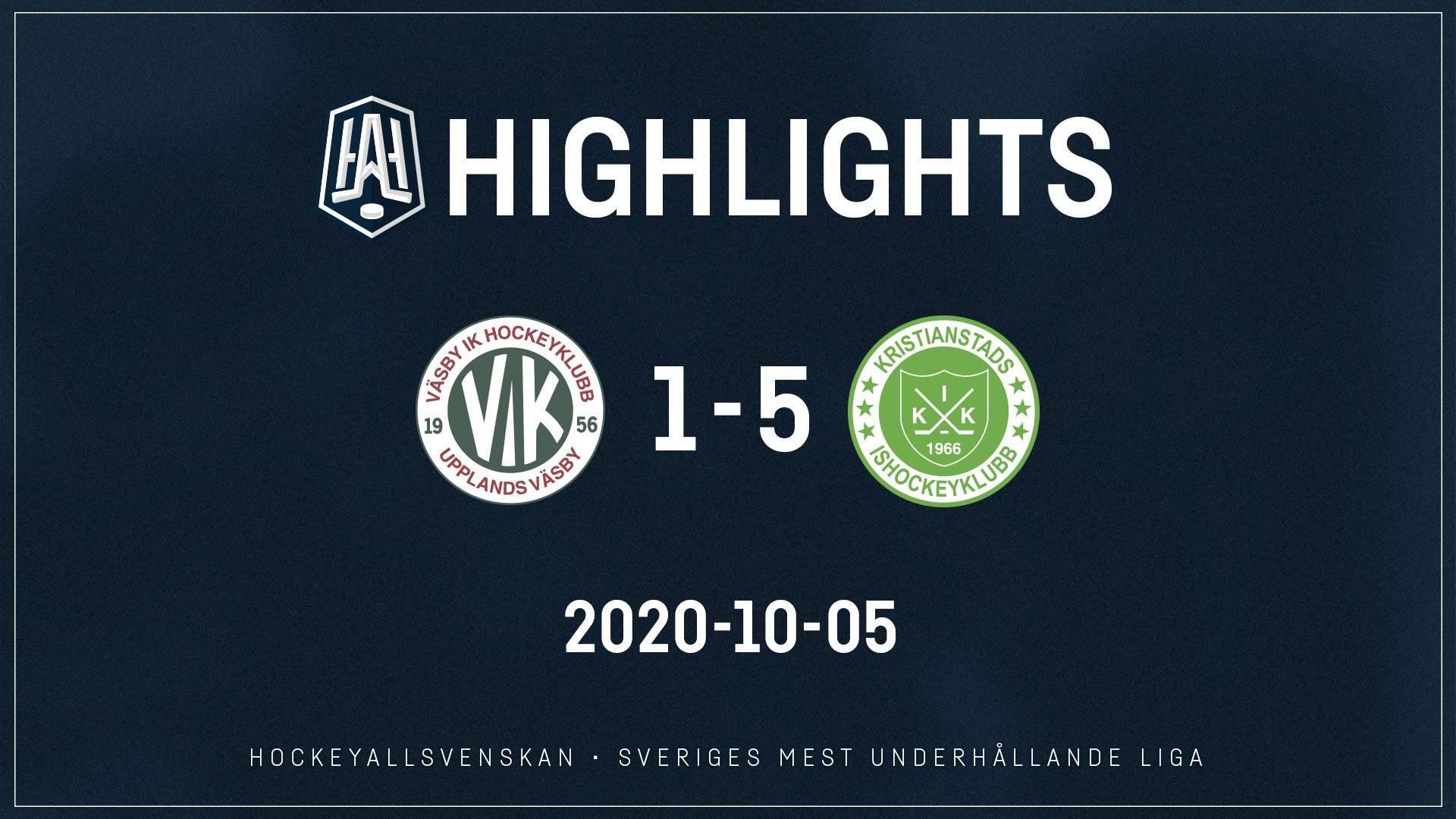 2020-10-05 Väsby - Kristianstad 1-5