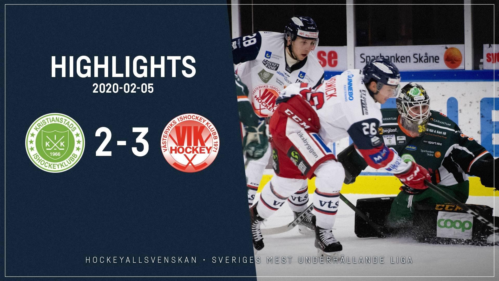 2020-02-05 Kristianstad - Västervik 2-3