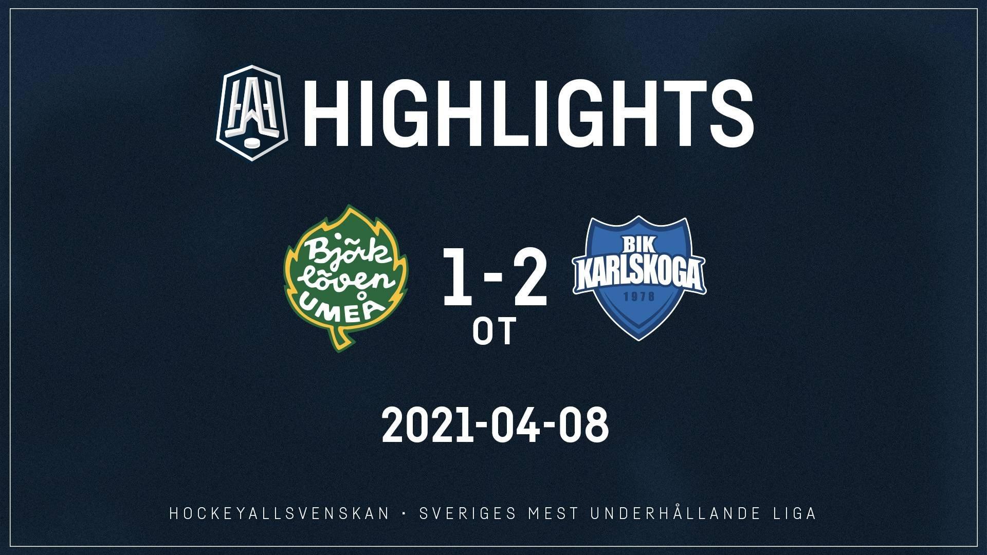 2021-04-08 Björklöven - Karlskoga 1-2 (OT)