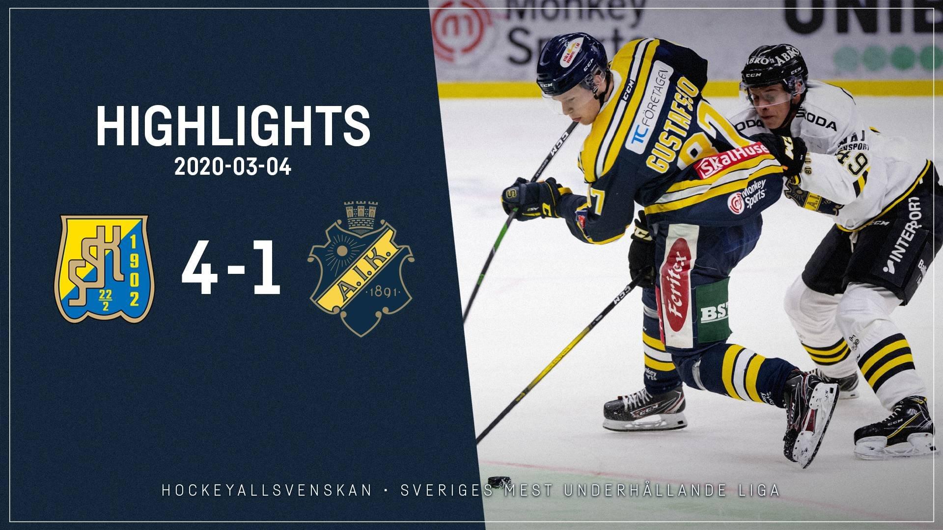 2020-03-04 Södertälje - AIK 4-1