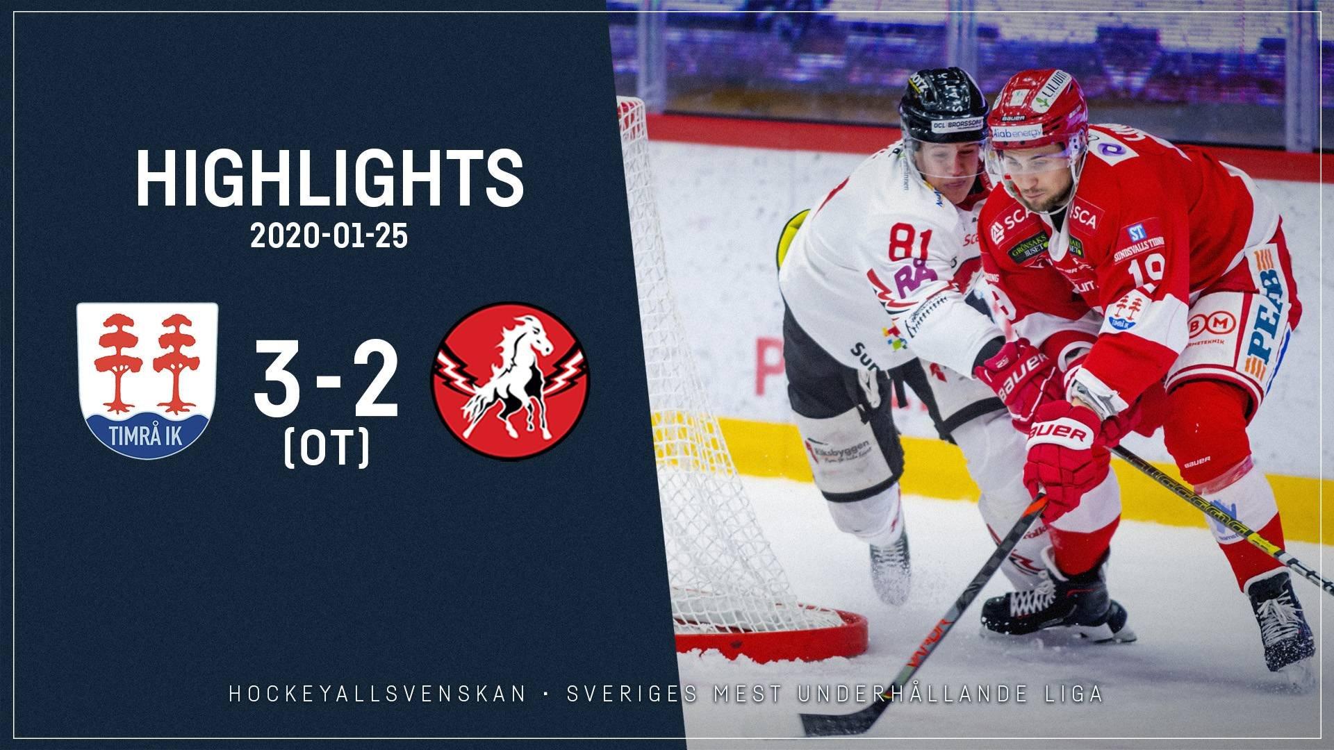 2020-01-25 Timrå - Vita Hästen 3-2 (OT)