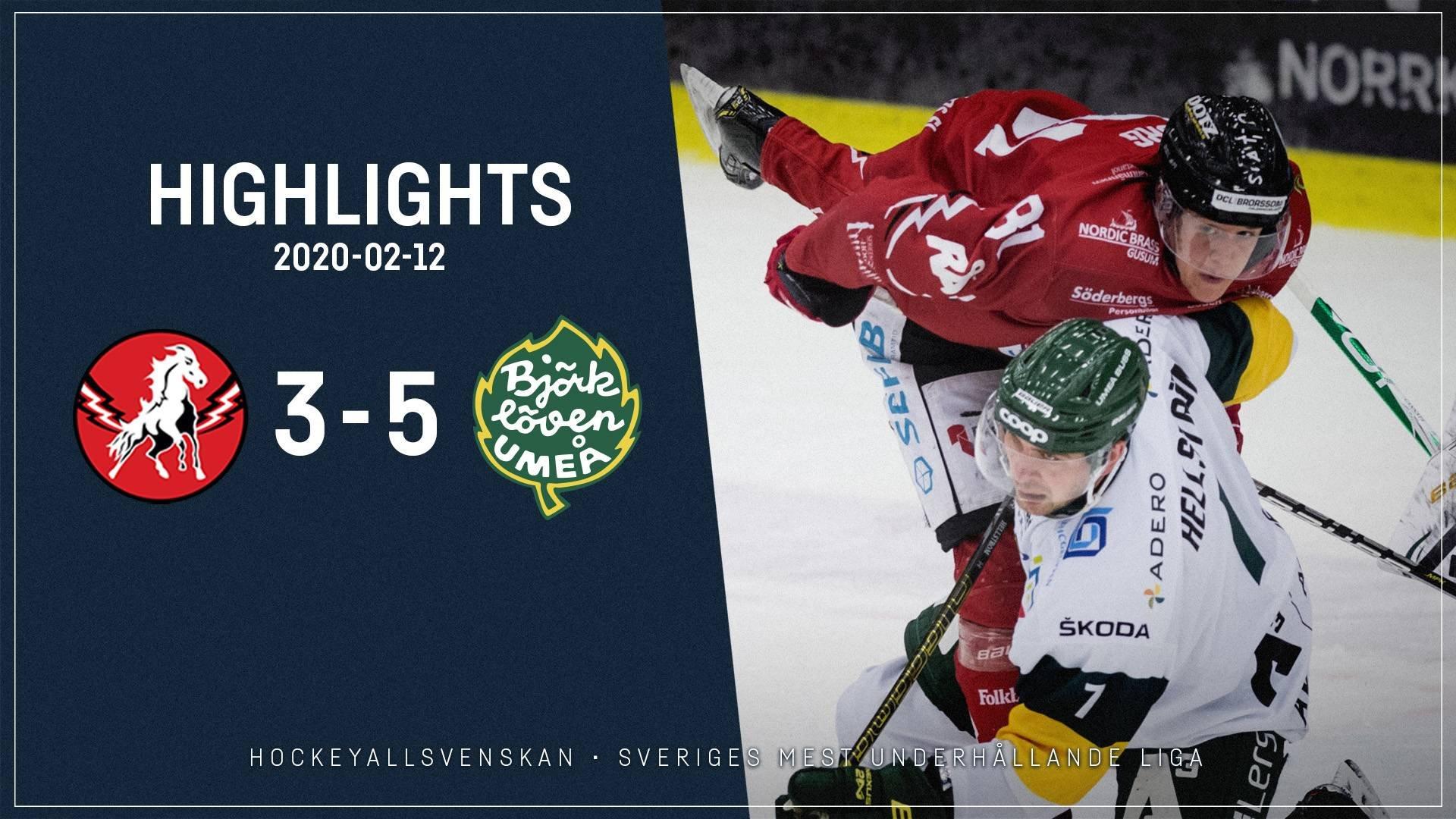 2020-02-12 Vita Hästen - Björklöven 3-5