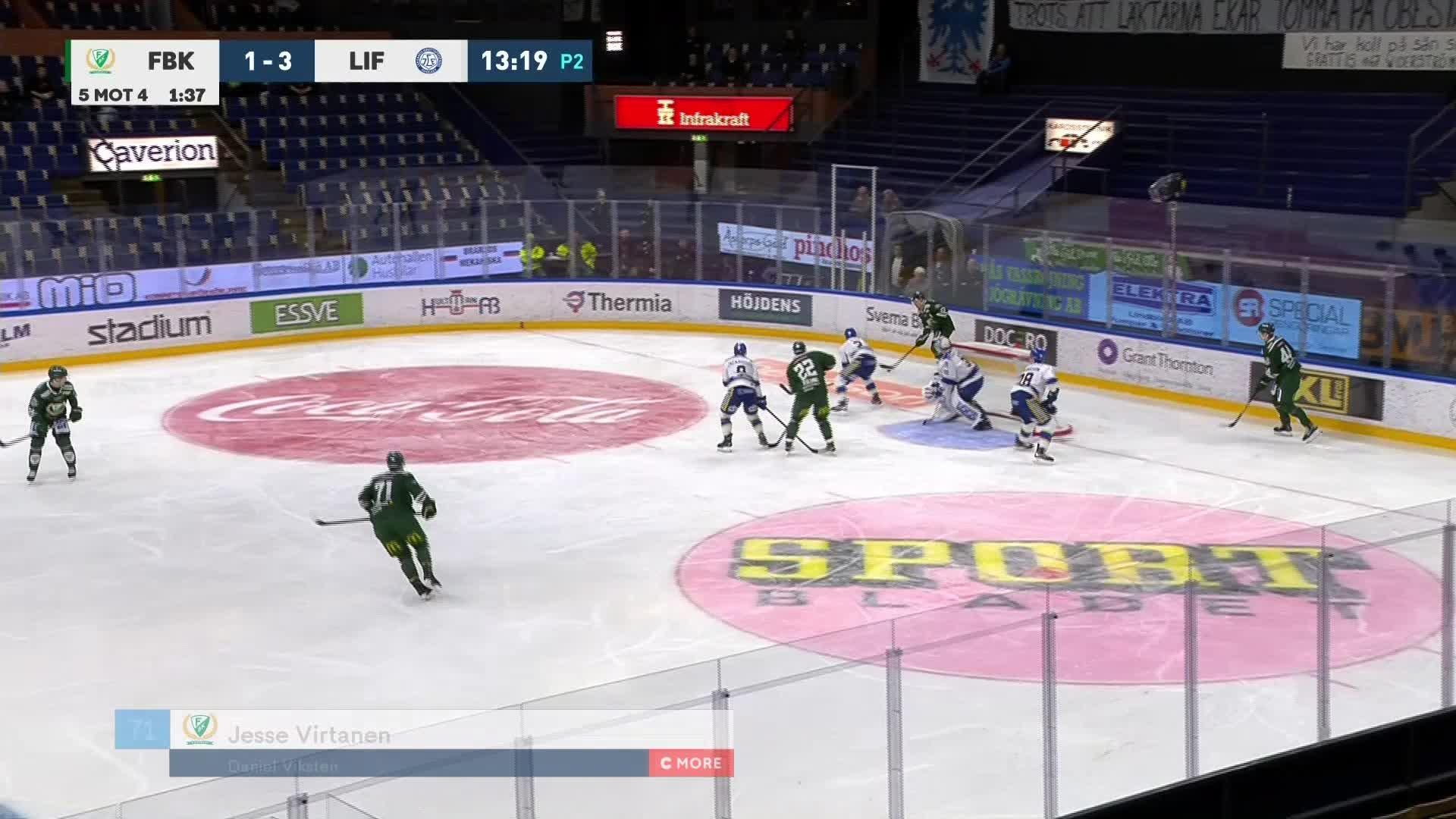 Färjestad BK - Leksands IF 2-3