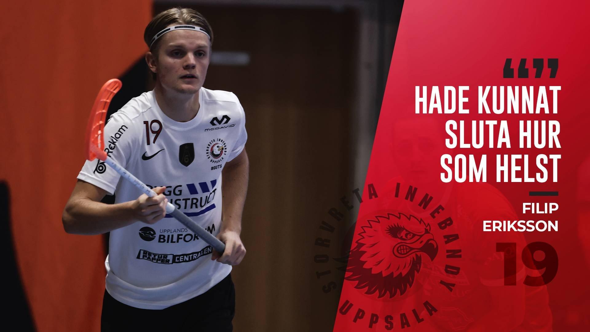"""Filip Eriksson """"Skönt att vi får utdelning"""""""