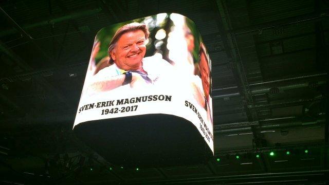 Löfbergs Arena hedrade Sven-Erik Magnusson