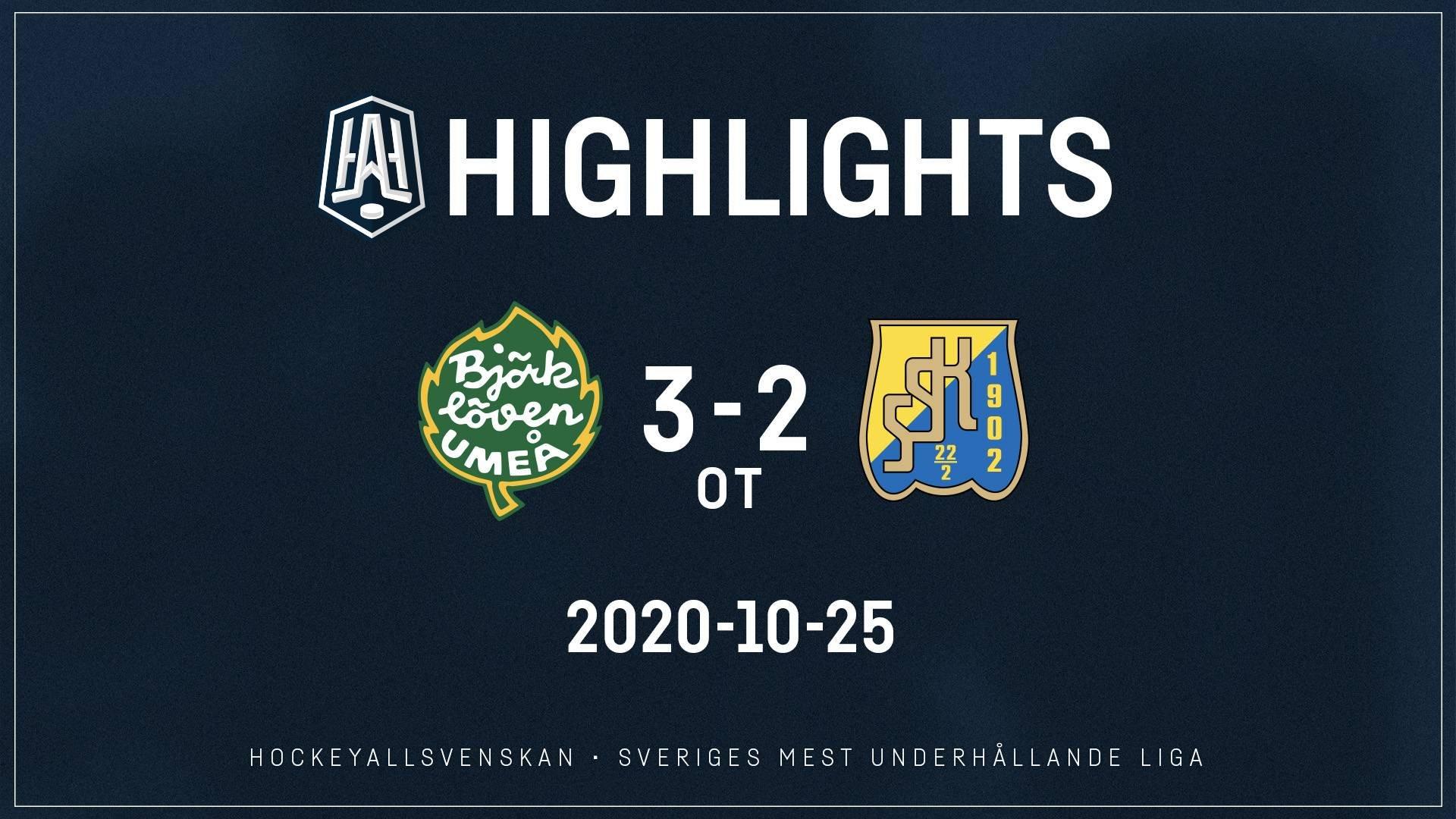 2020-10-25 Björklöven - Södertälje 3-2 (OT)