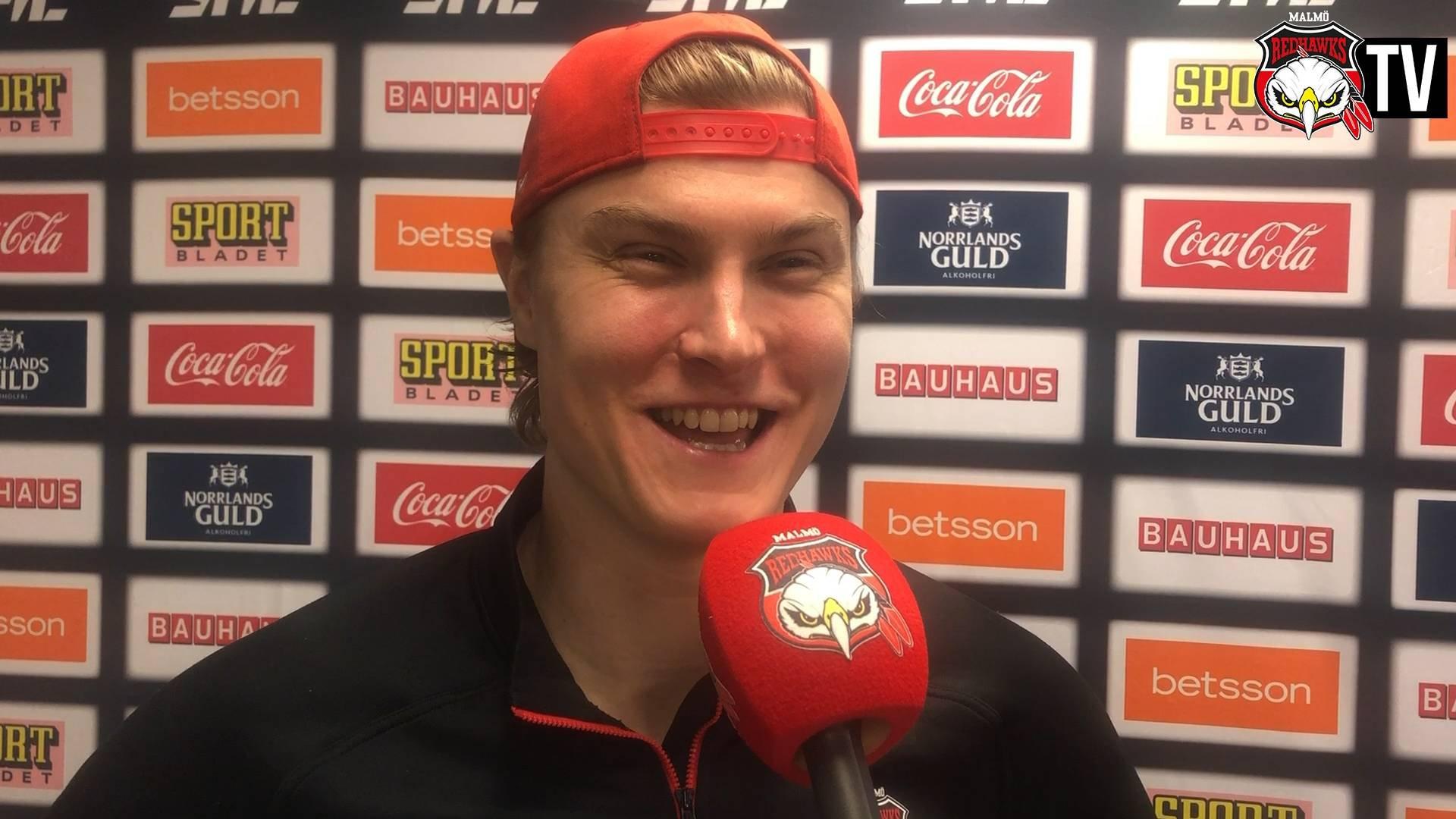Kapten Händemark efter segern