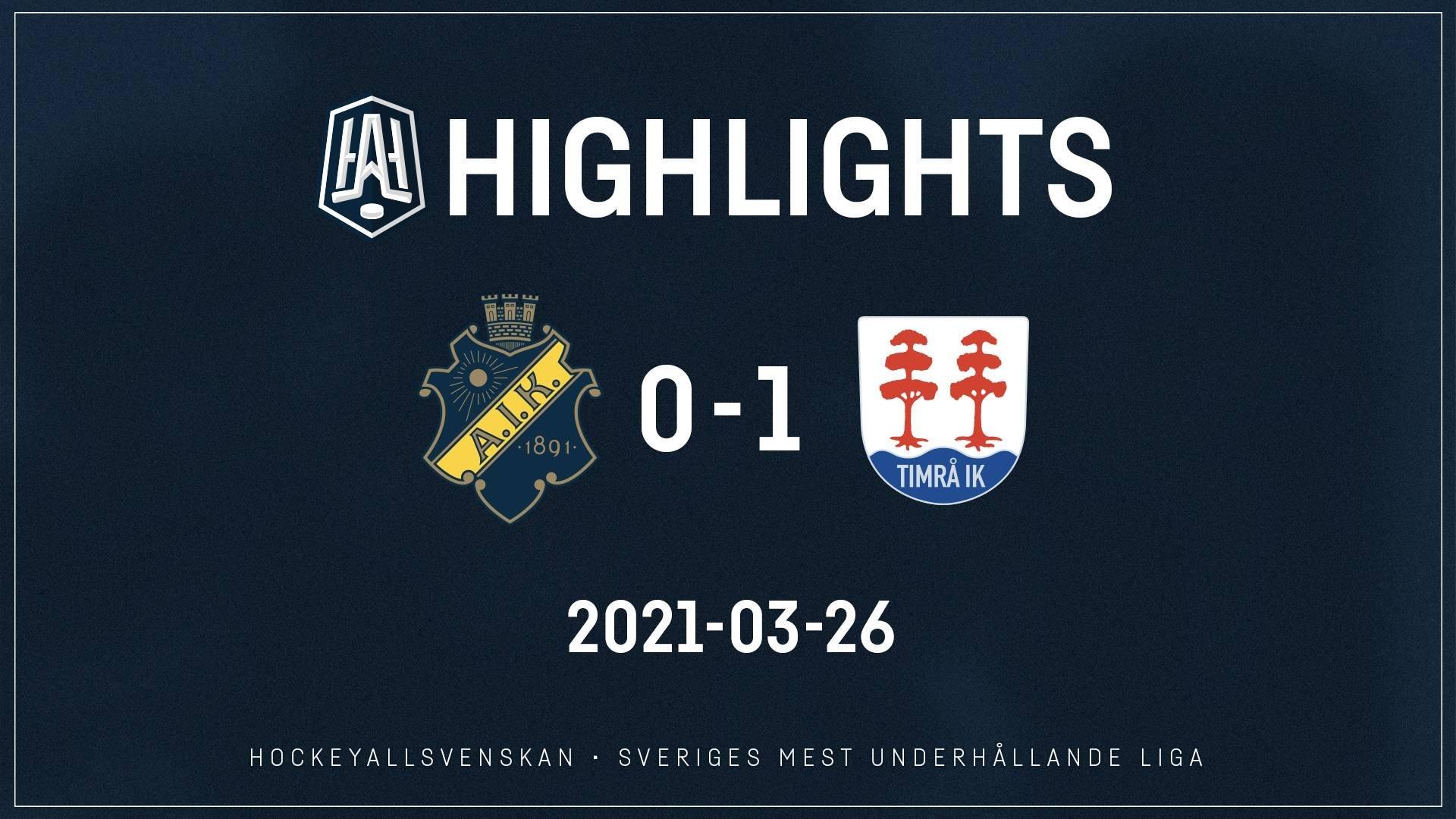 2021-03-26 AIK - Timrå 0-1