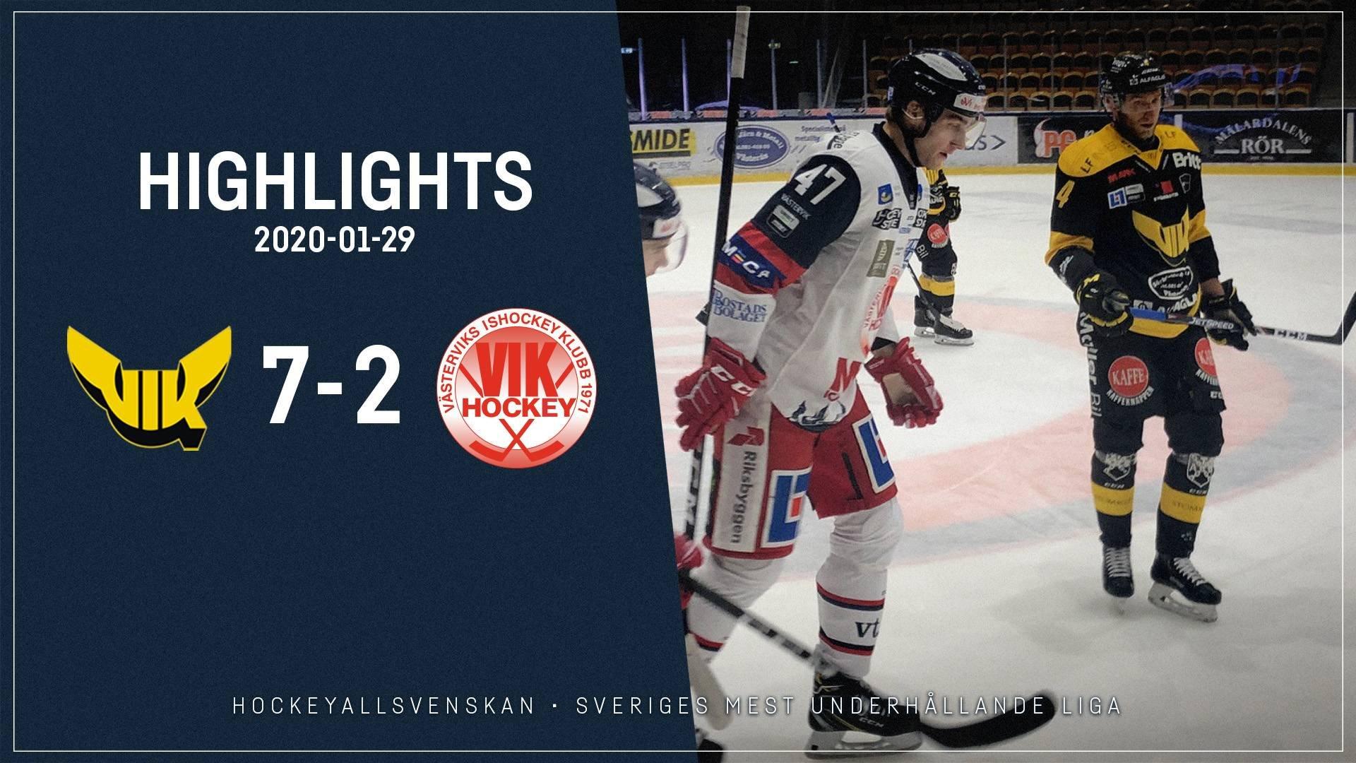 2020-01-29 Västerås - Västervik 7-2