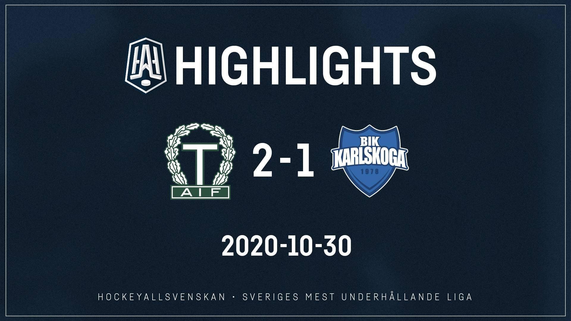 2020-10-30 Tingsryd - Karlskoga 2-1