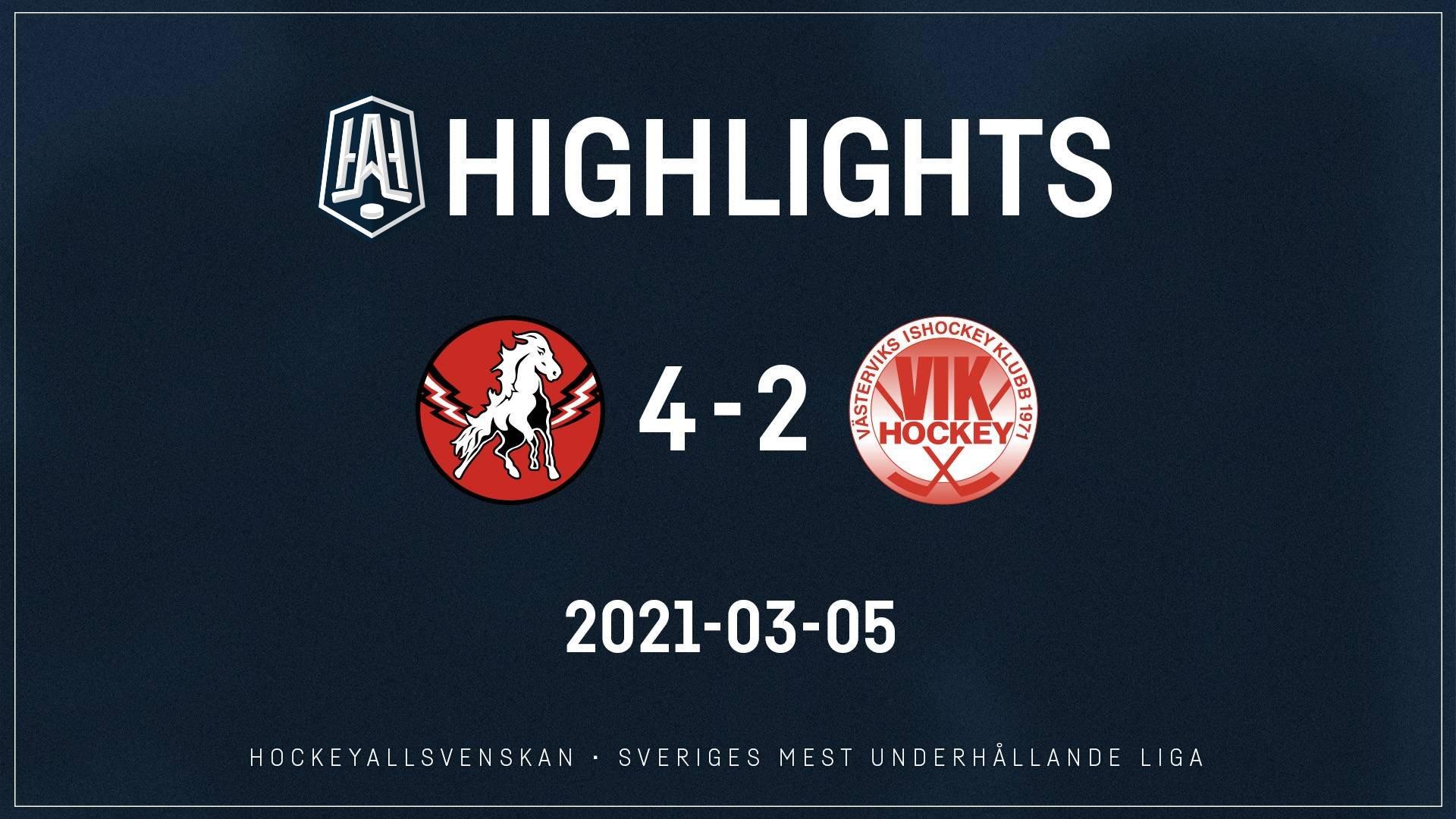 2021-03-05 Vita Hästen - Västervik 4-2