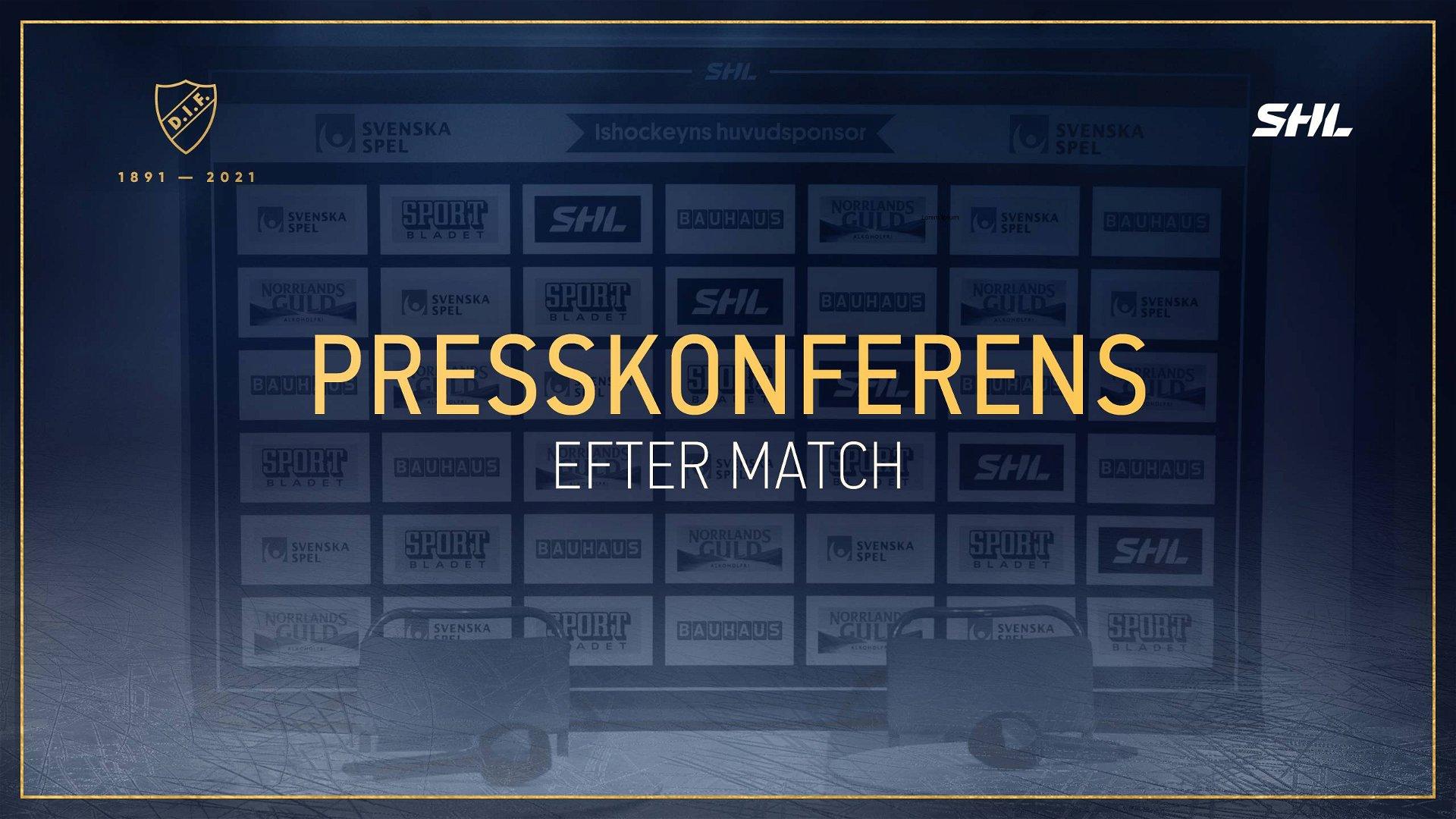 Presskonferens DIF-SKE 210911