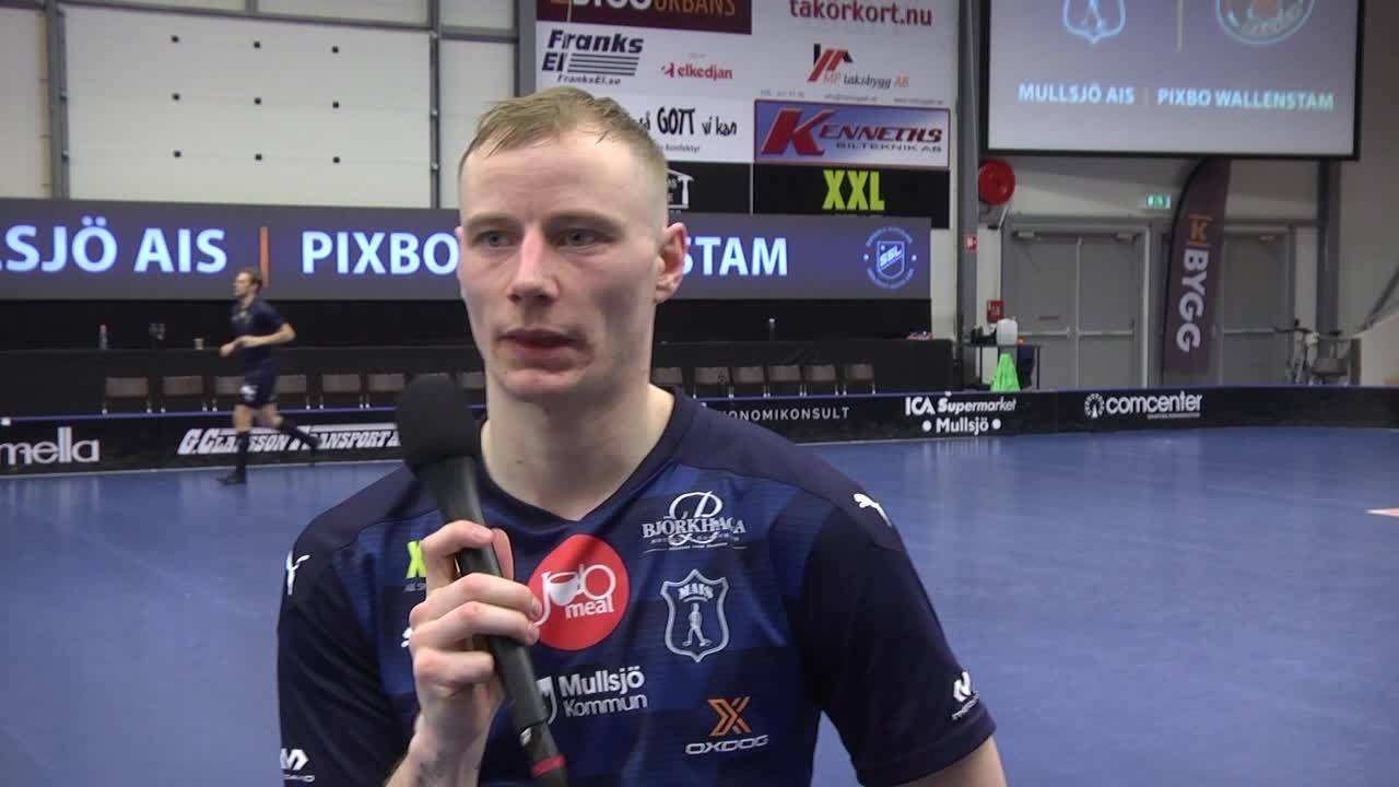 Jesper Sankell efter segermatchen mot Höllvikens IBF