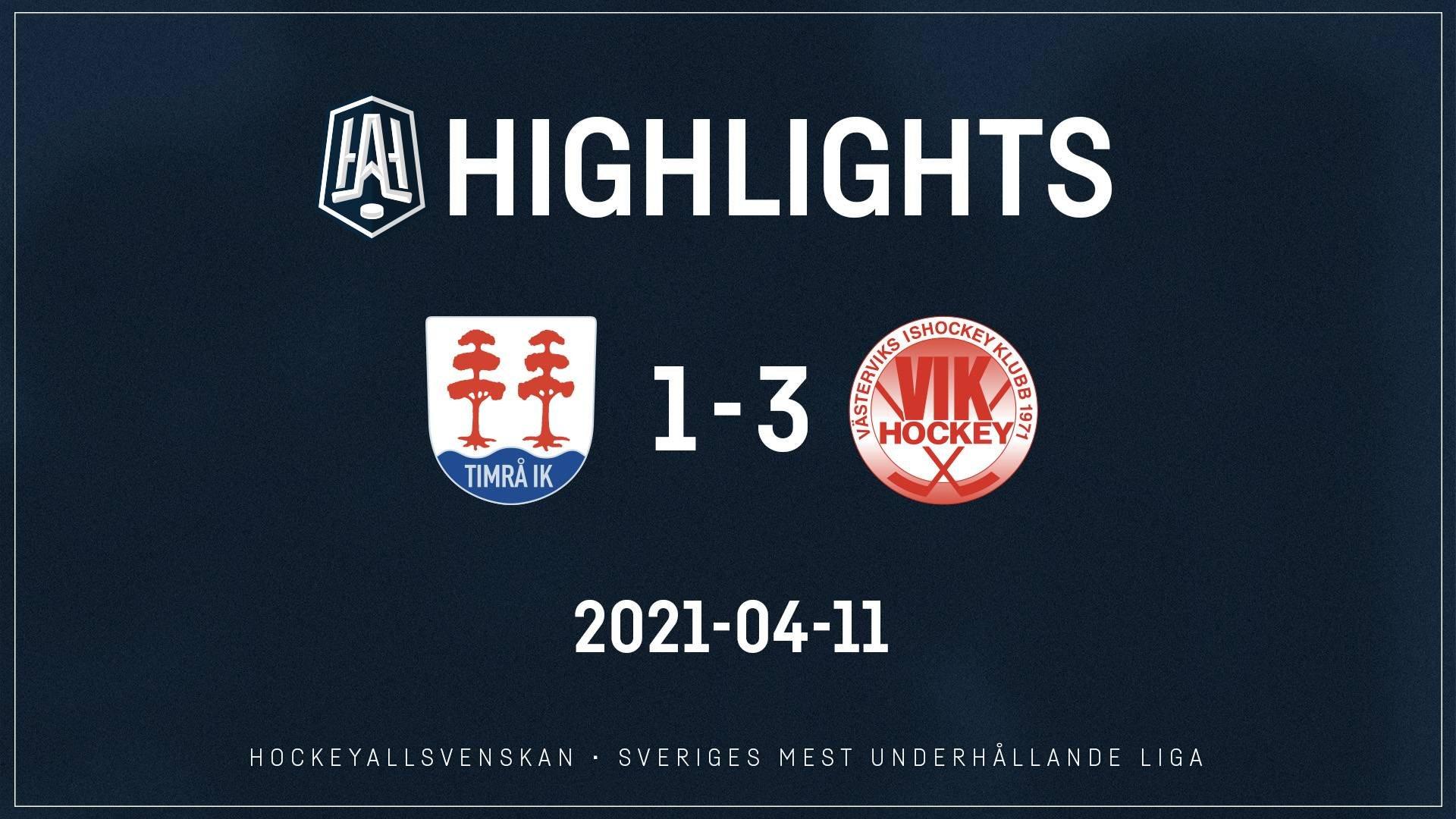 2021-04-11 Timrå - Västervik 1-3