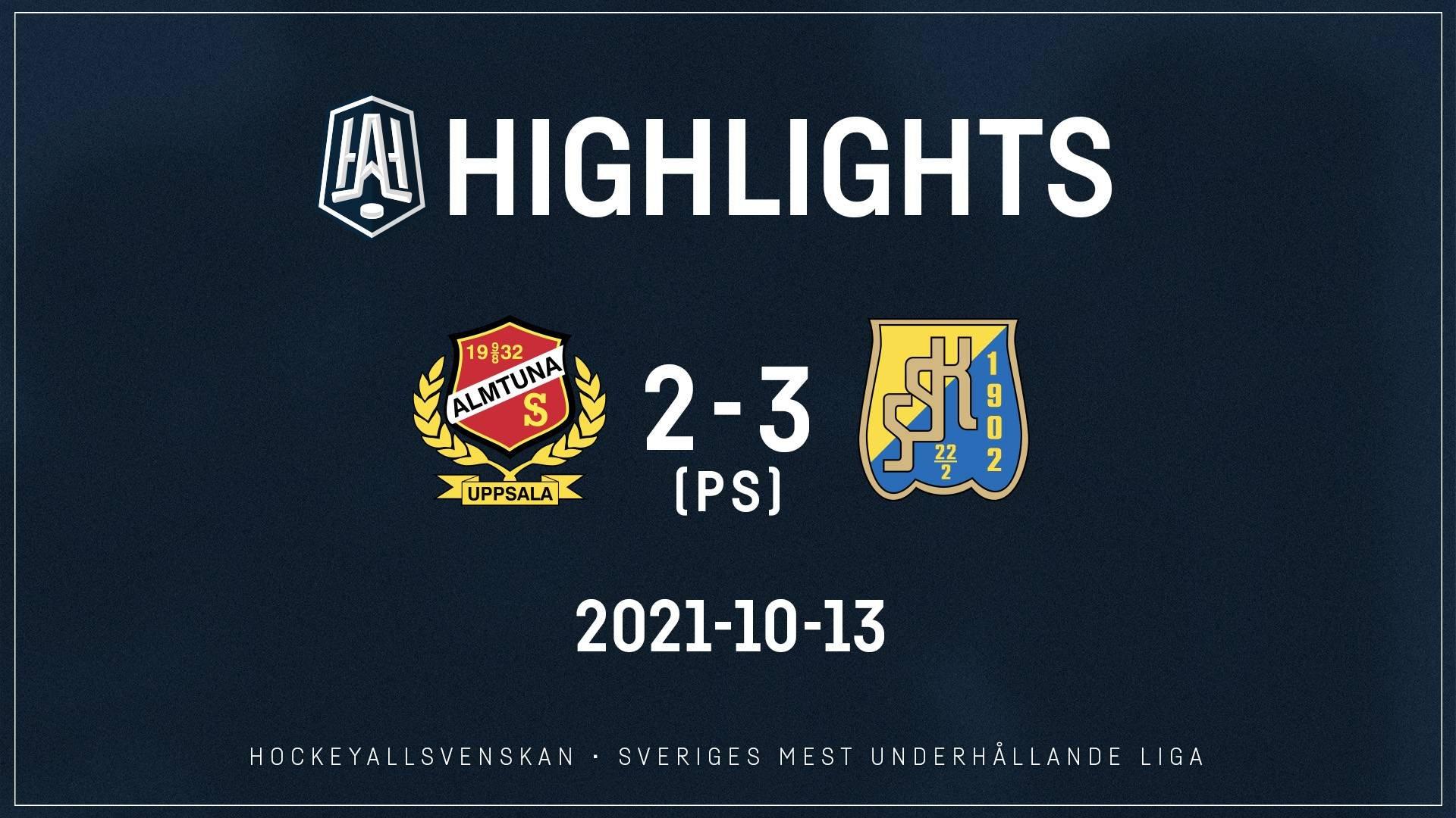 2021-10-13 Almtuna - Södertälje 2-3 (PS)