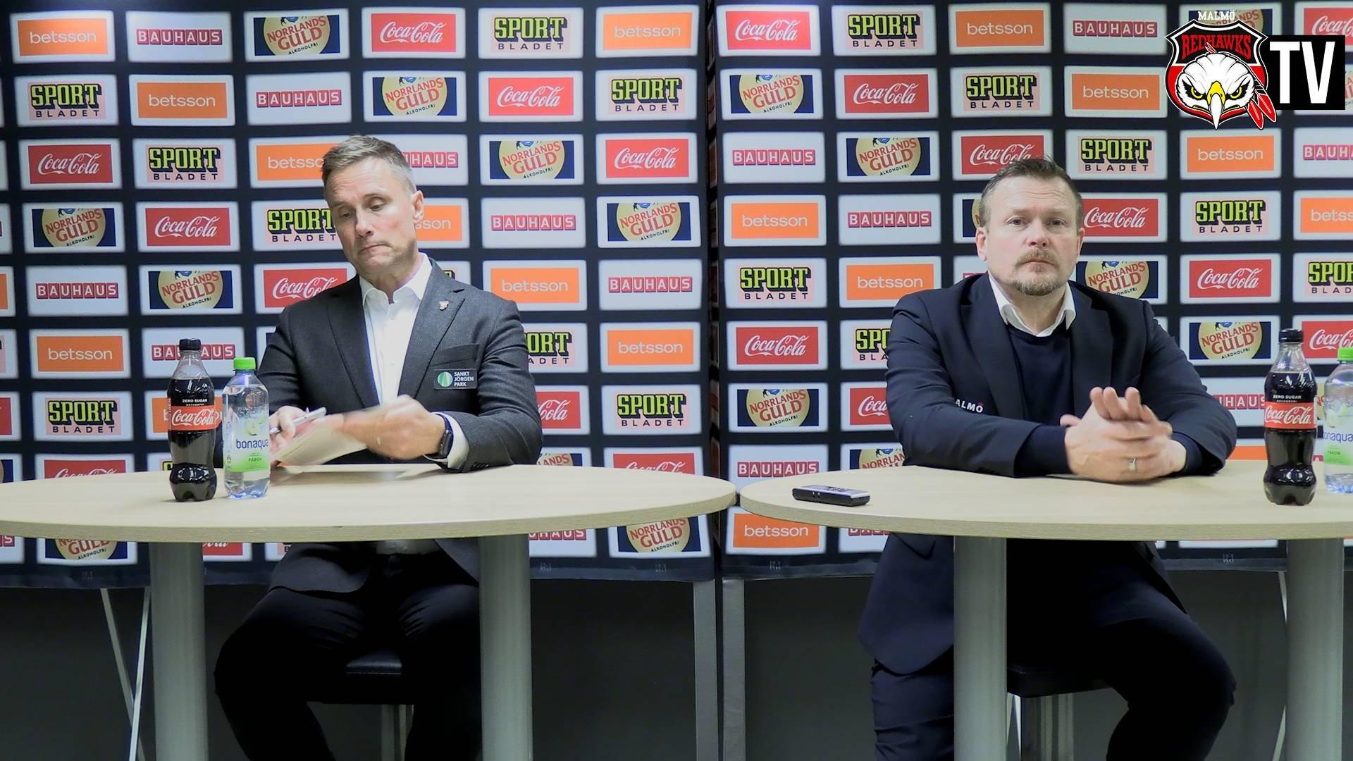 Presskonferens Malmö - Frölunda