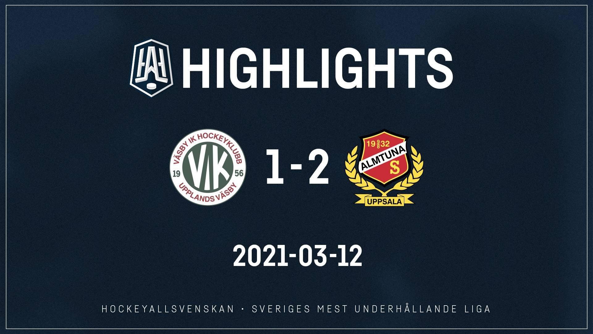 2021-03-12 Väsby - Almtuna 1-2