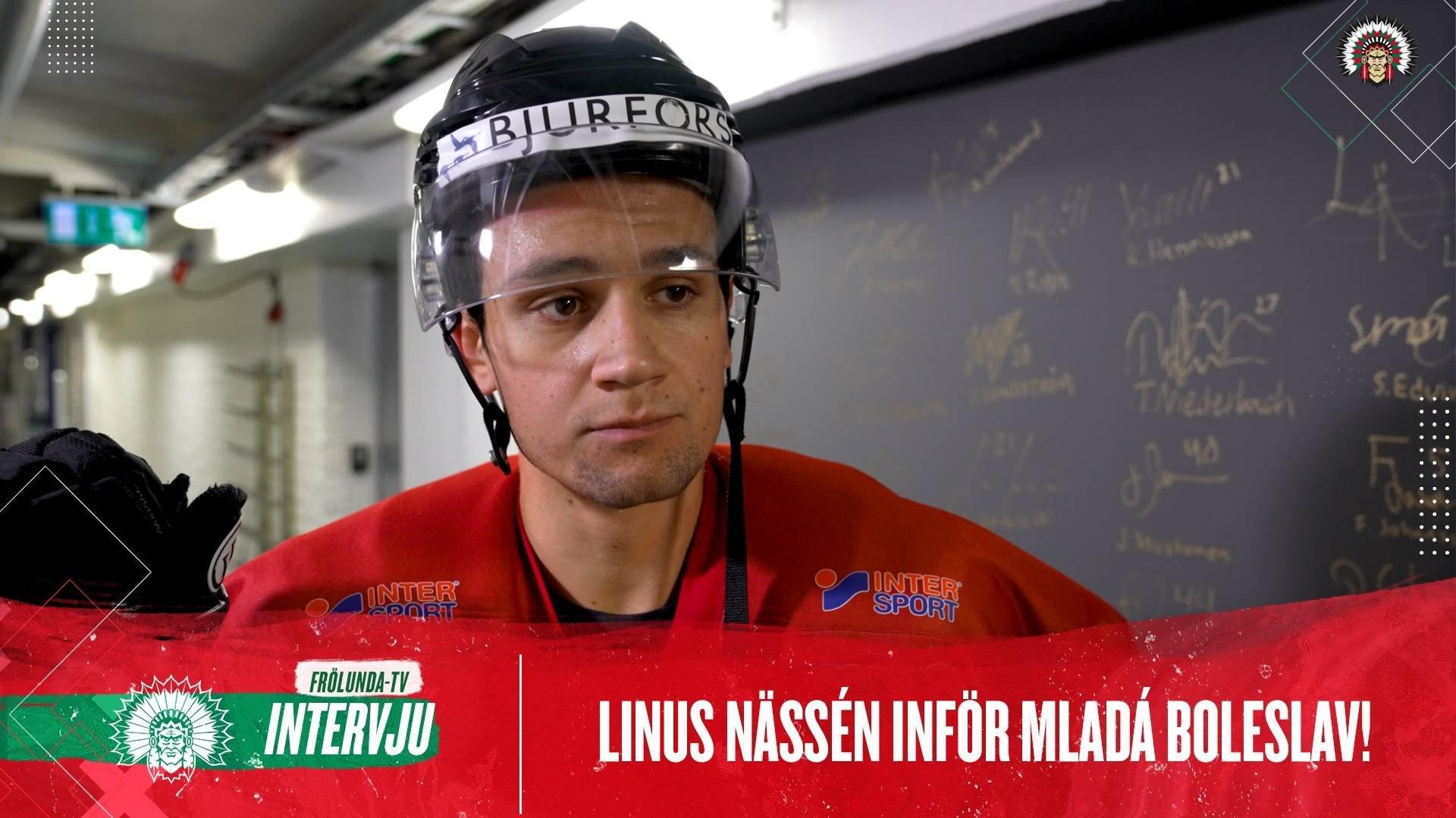 Linus Nässén inför Mlada Boleslav
