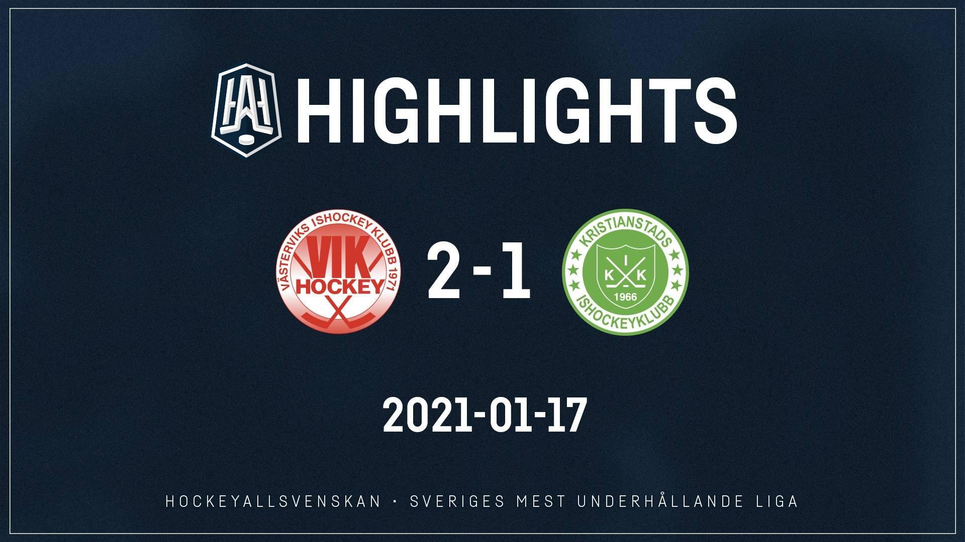 2021-01-17 Västervik - Kristianstad 2-1
