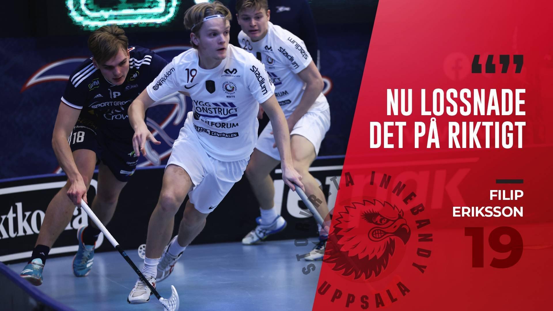 """Filip Eriksson """"Slutspelet börjar närma sig"""""""
