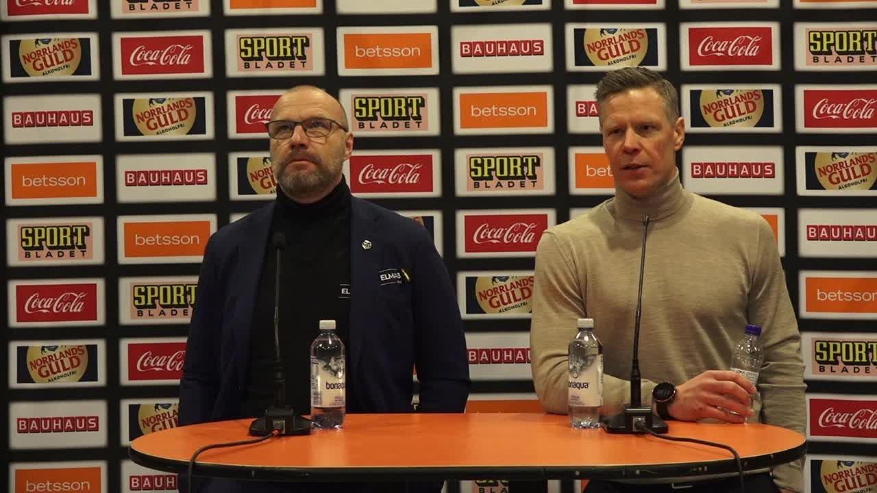 Presskonferens LIF-HV71 7 januari 2021