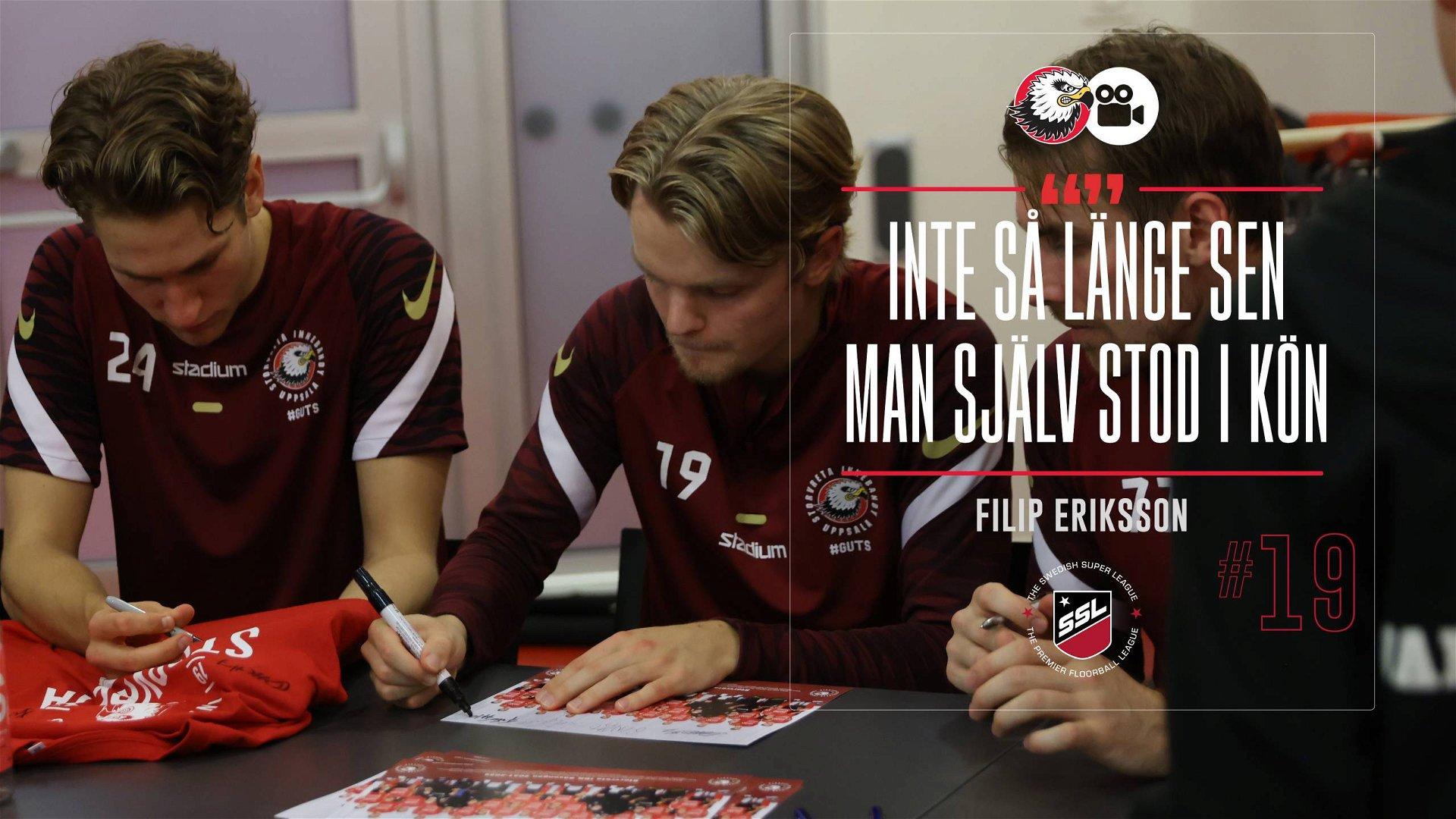 """Filip Eriksson """"Jättekul att ge tillbaka"""""""